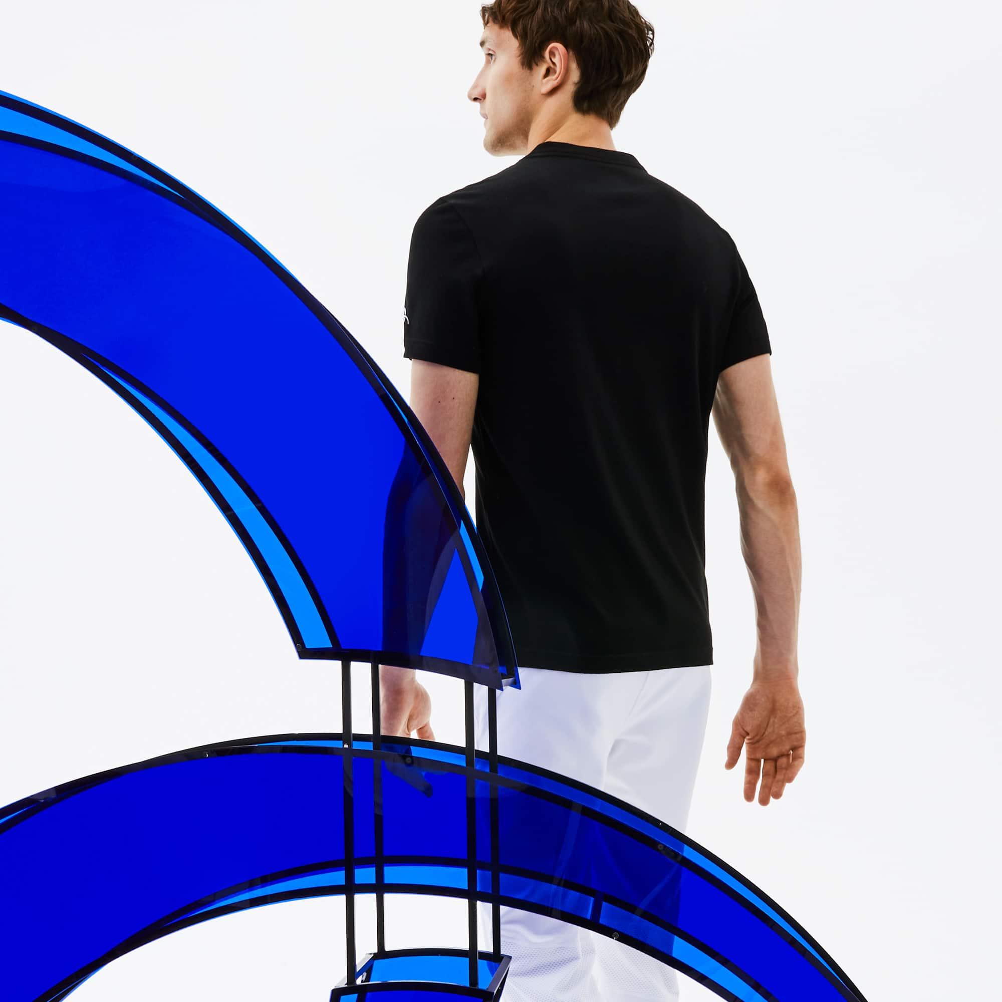 Lacoste - Herren Rundhals-T-Shirt aus Jersey mit Aufdruck LACOSTE SPORT - 2