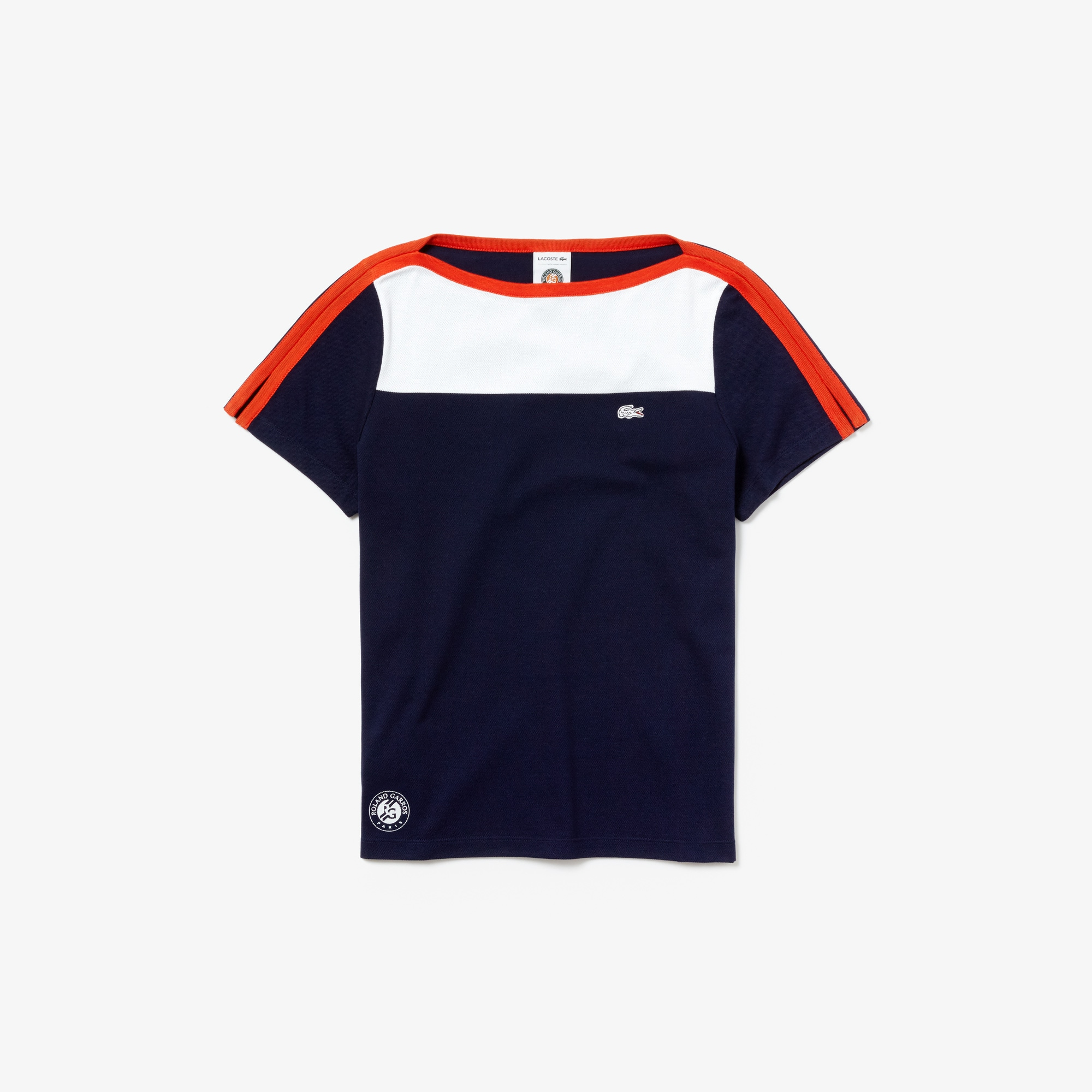 Damen Baumwoll-T-Shirt LACOSTE SPORT French Open Edition