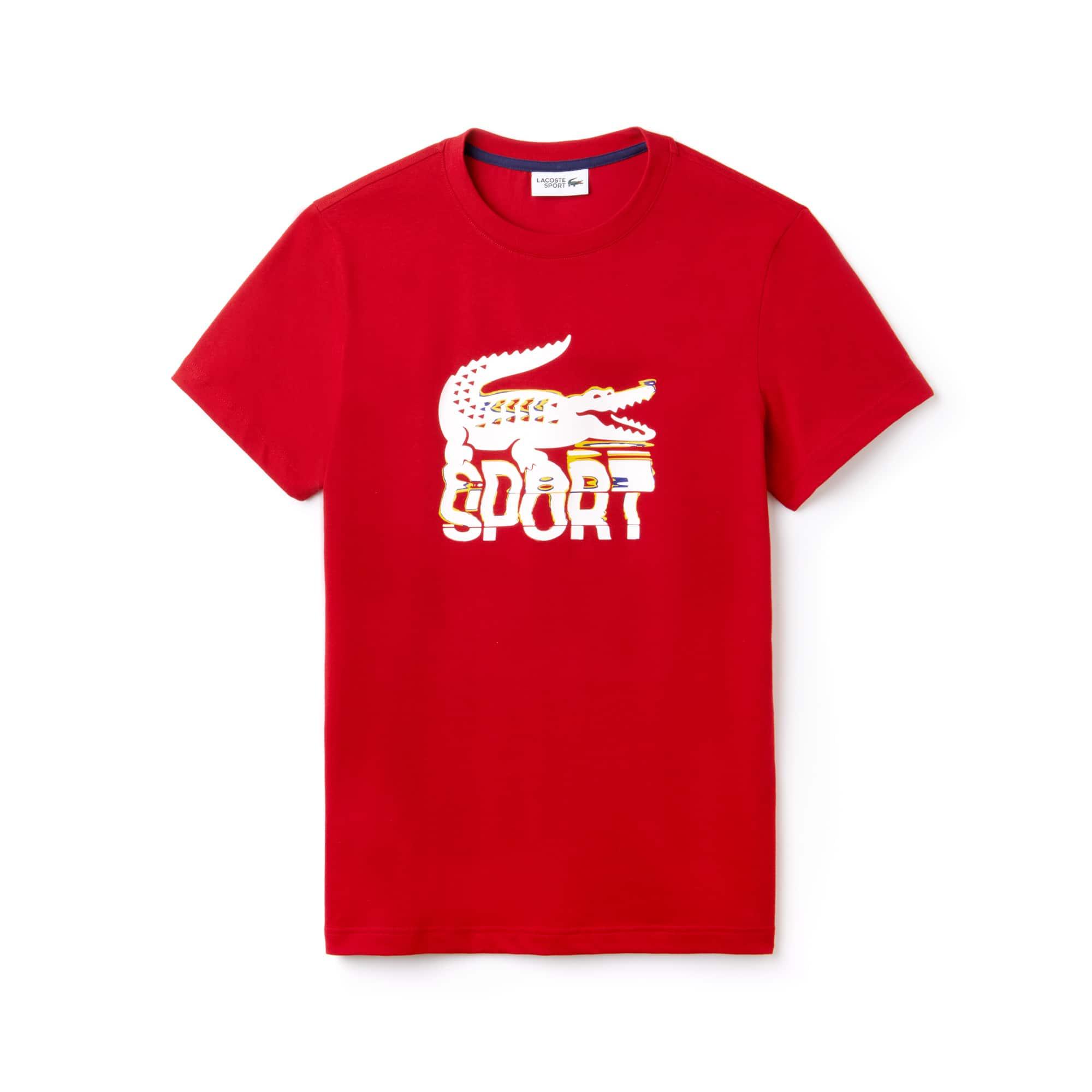 Lacoste - Herren LACOSTE SPORT Rundhals Tennis T-Shirt aus Jersey - 3