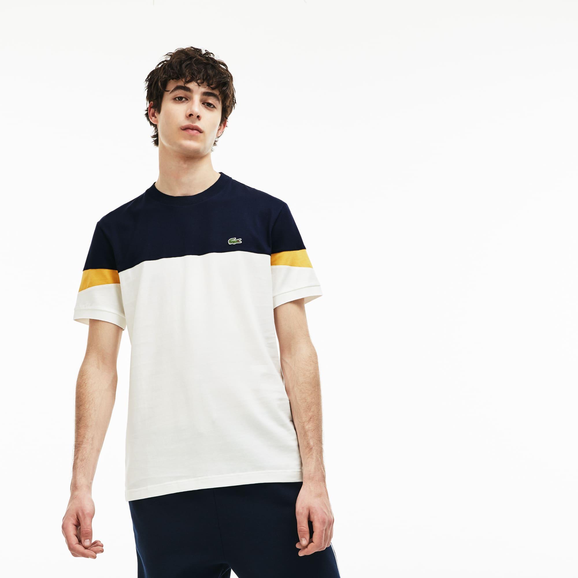 Lacoste - Herren Rundhals-Shirt aus Jersey im Colorblock-Design - 5