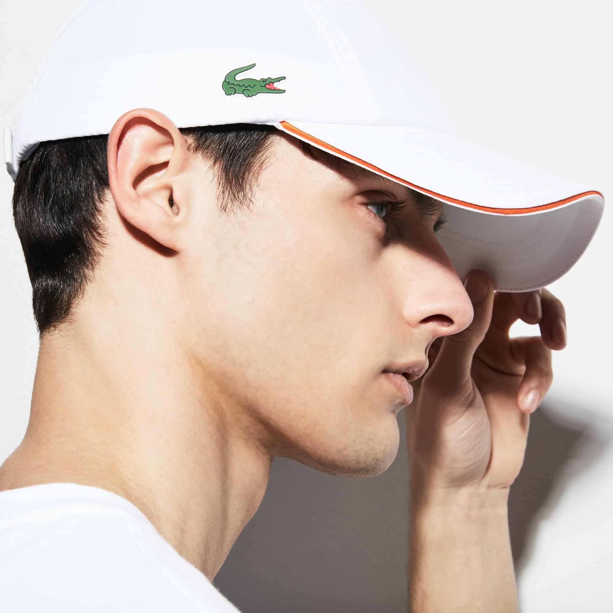 Herren LACOSTE SPORT Taft Tenniskappe mit Paspeln