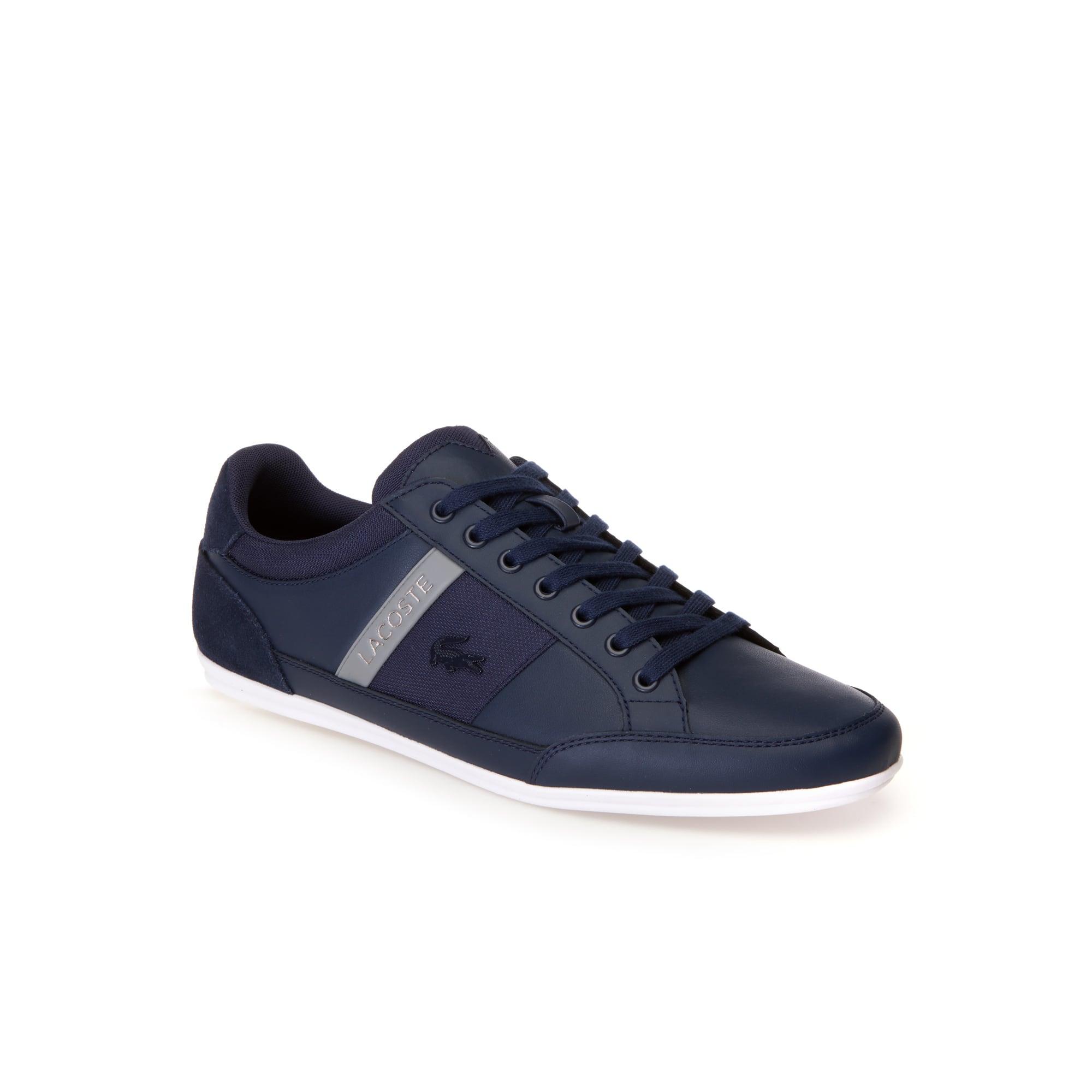 Herren-Sneakers CHAYMON aus Ton-in-Ton Nappa- und Veloursleder