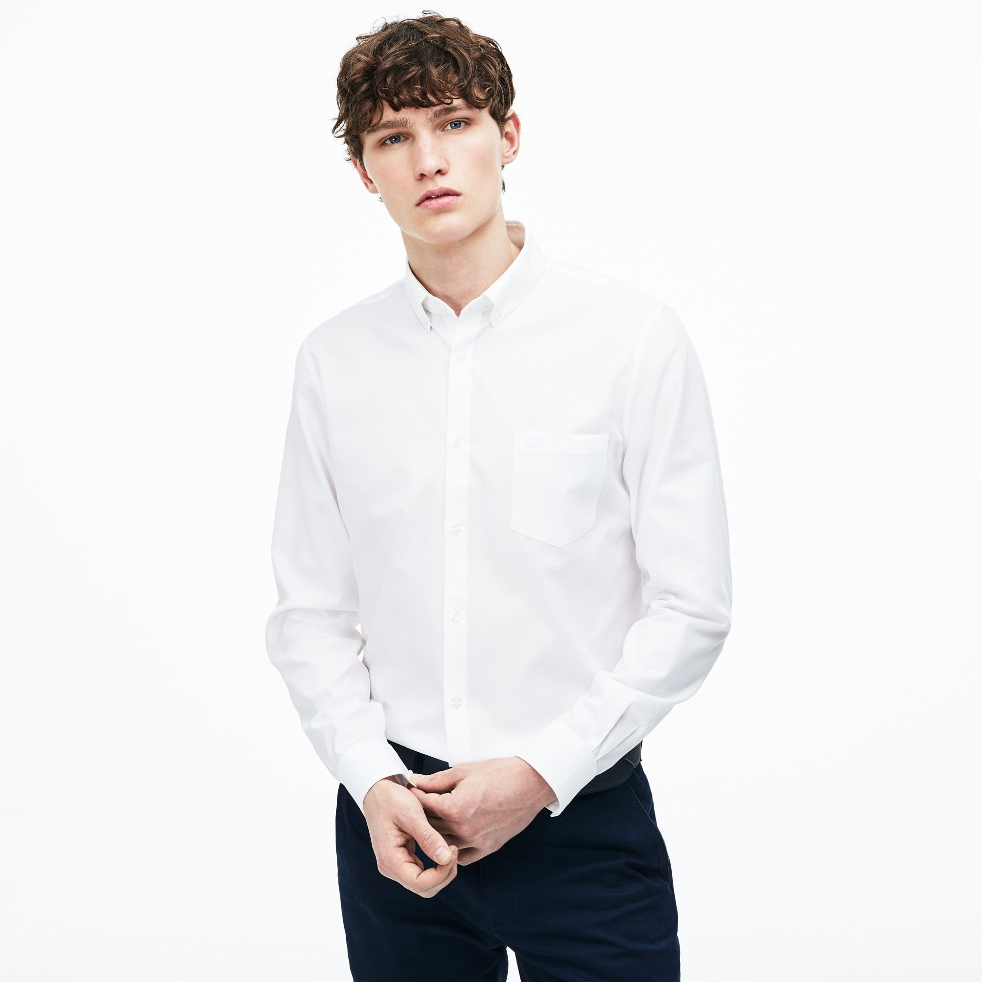 Lacoste - Regular Fit Herren-Hemd aus strukturierter Popeline - 1