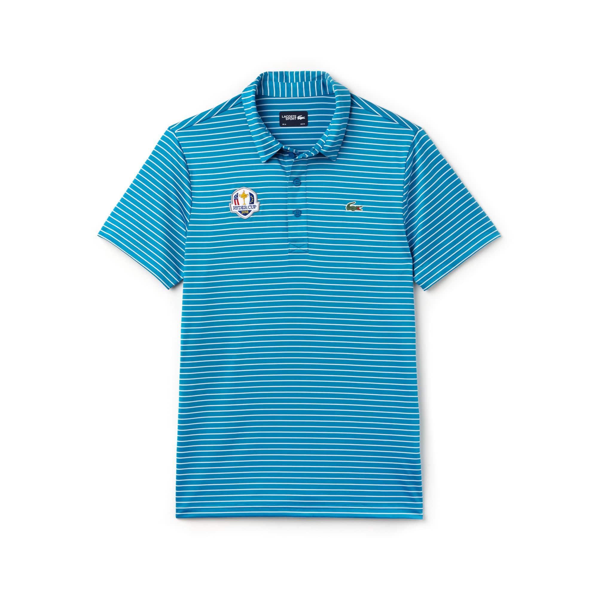 Herren LACOSTE SPORT Ryder Cup Edition gestreiftes Poloshirt