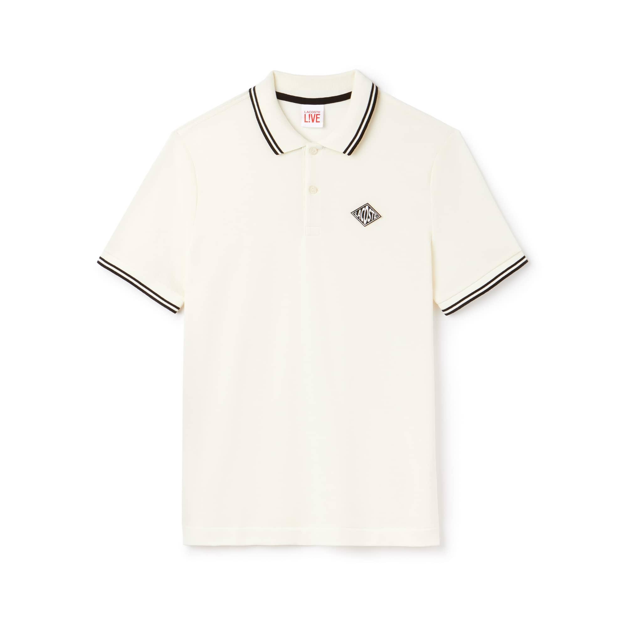 Herren LACOSTE L!VE Slim Fit Petit Piqué Poloshirt mit Aufnäher