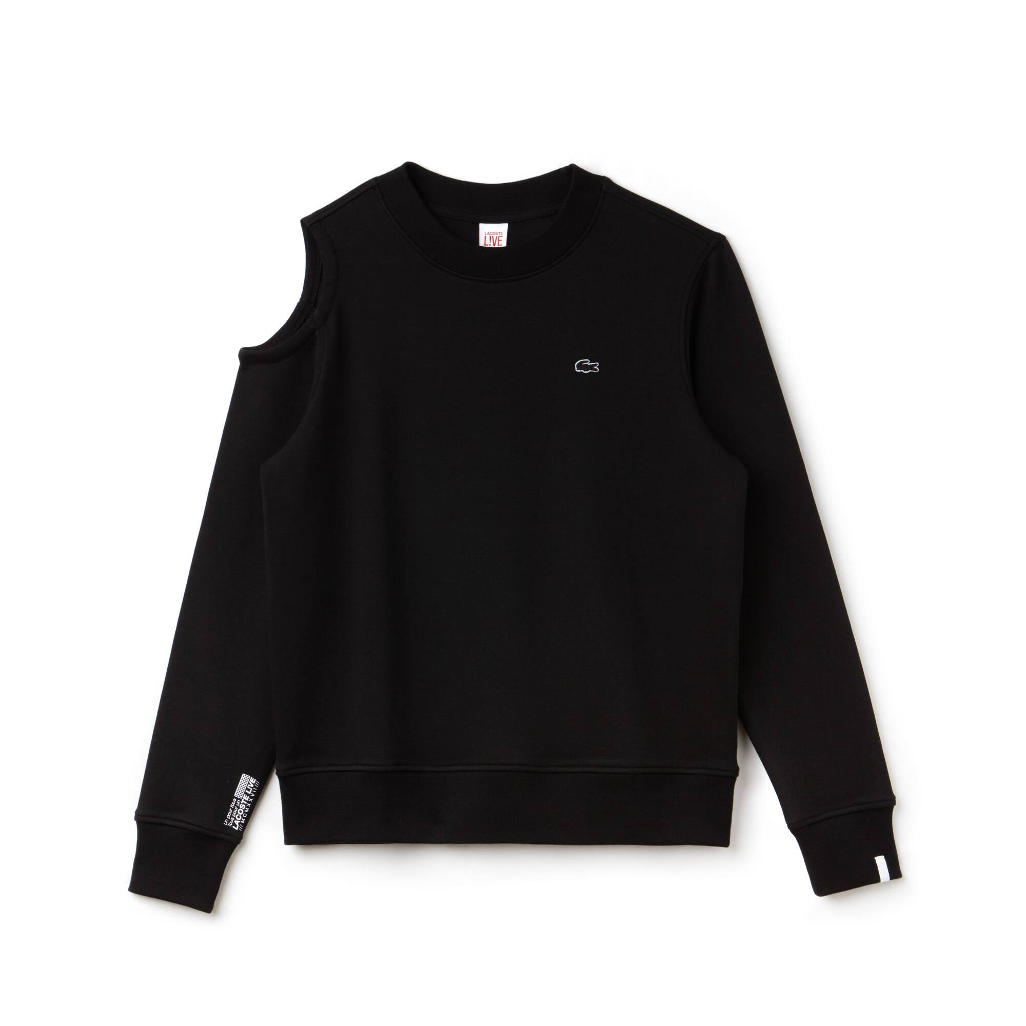 Damen-Sweatshirt mit asymmetrischer Aussparung LACOSTE L!VE