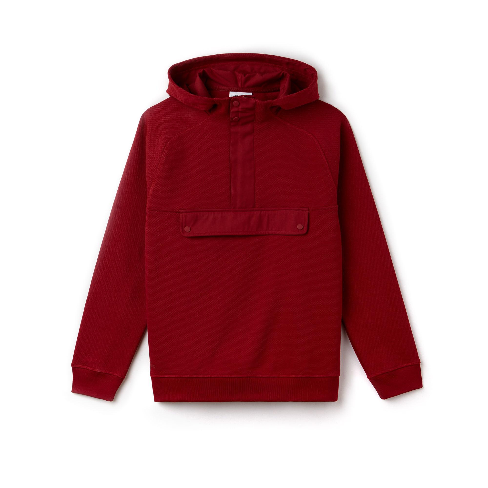 Herren-Sweatshirt aus Baumwoll-Jacquard-Piqué mit Kapuze