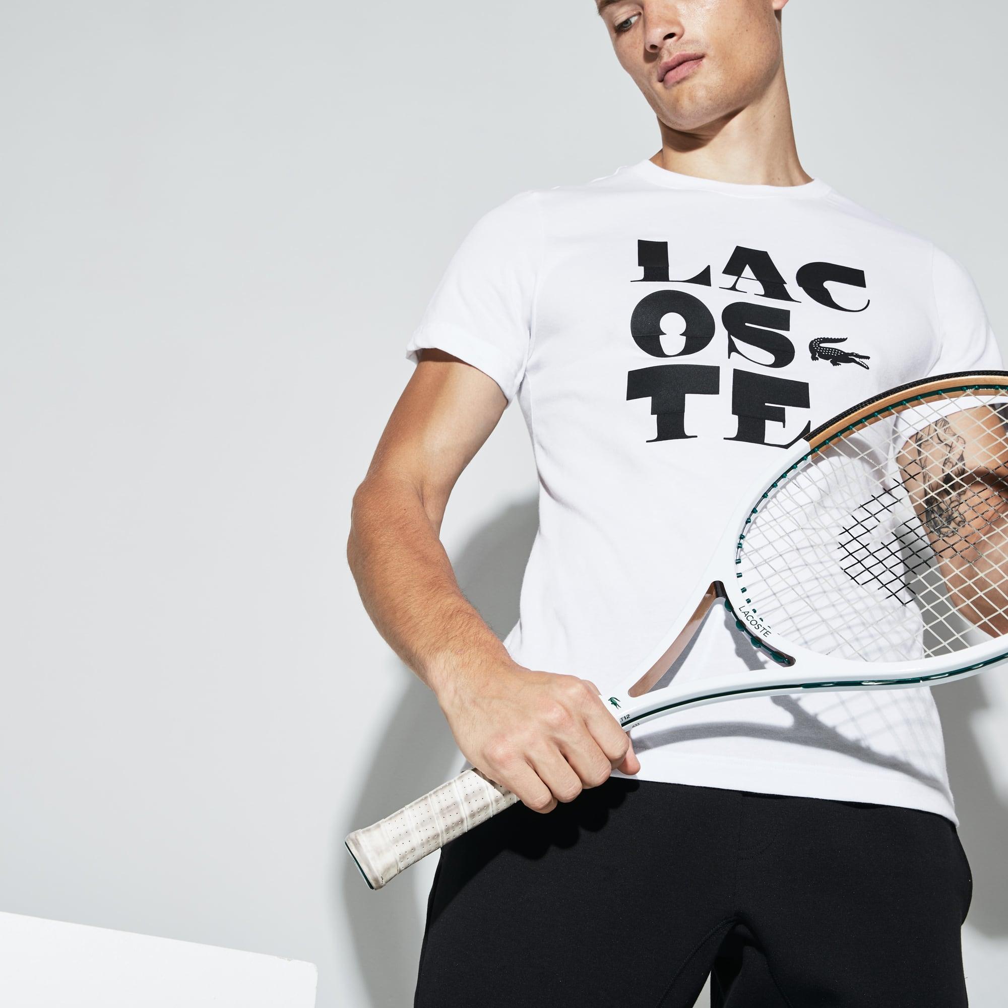 Lacoste - Herren LACOSTE SPORT Rundhals Tennis T-Shirt aus Jersey - 5