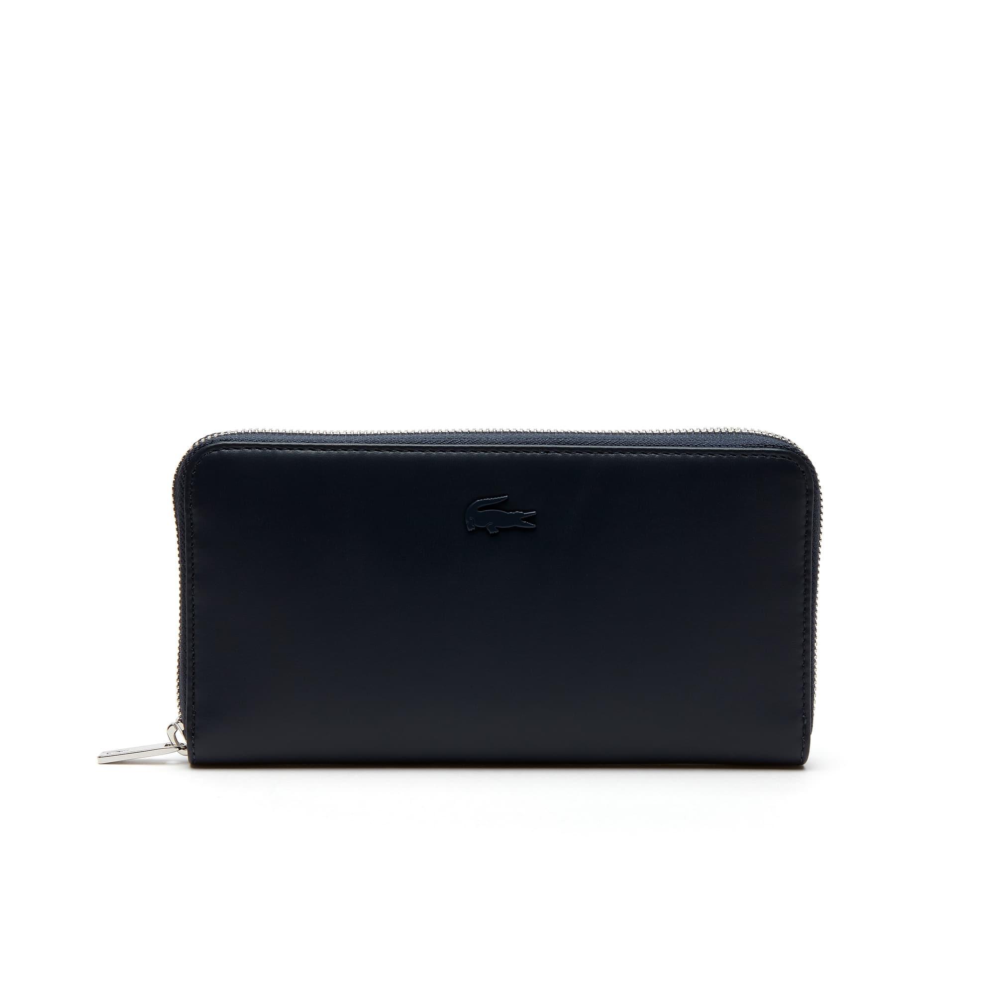 Einfarbige 8 Karten-Damen-Brieftasche Purity Soft aus Leder