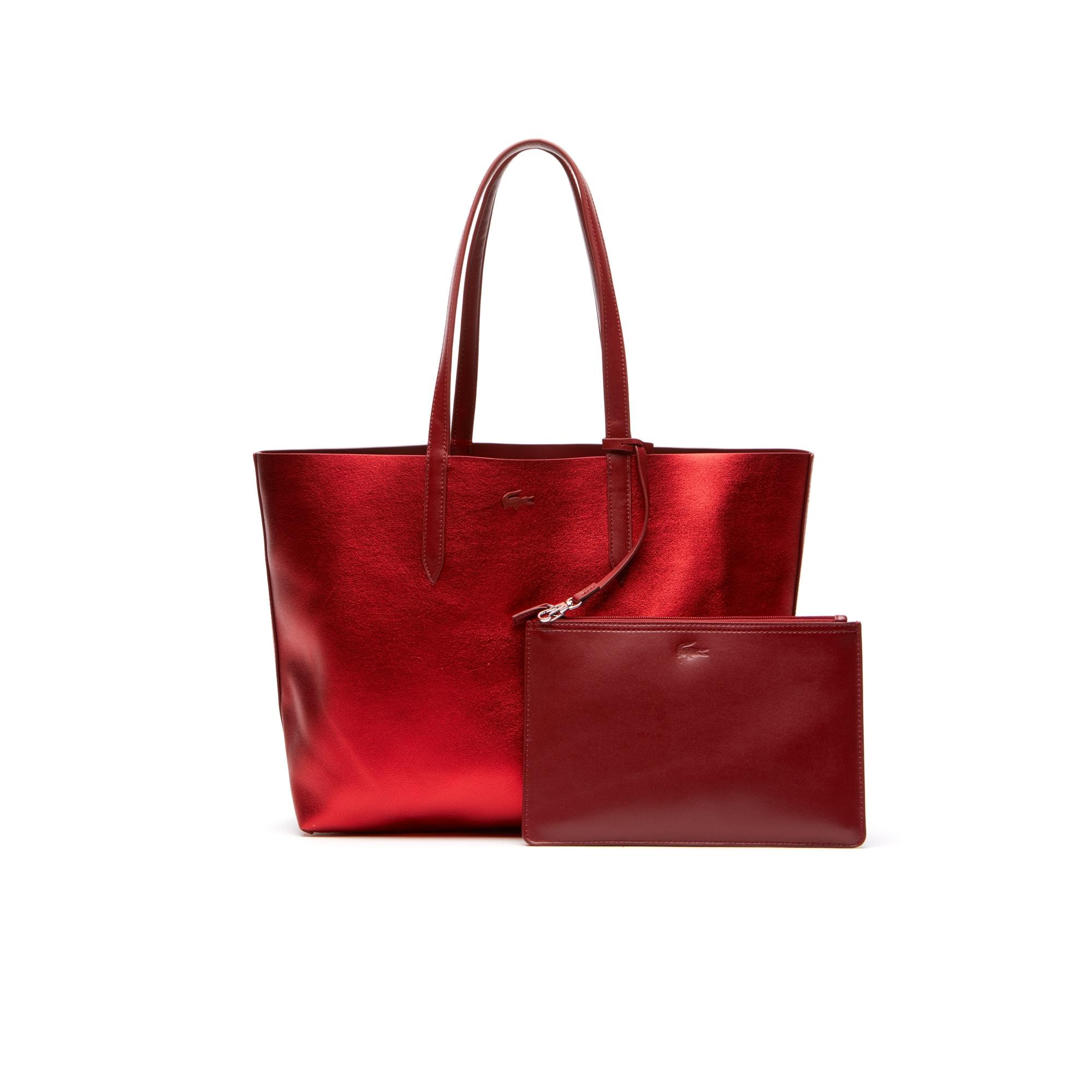 Damen ANNA Wende-Tote Bag glänzend und matt