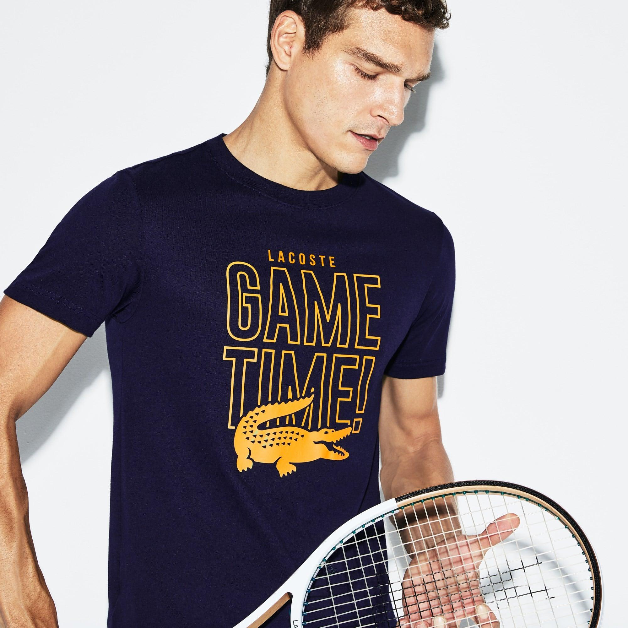 Lacoste - Herren LACOSTE SPORT Game Time Rundhals Tennis T-Shirt aus Jersey - 5