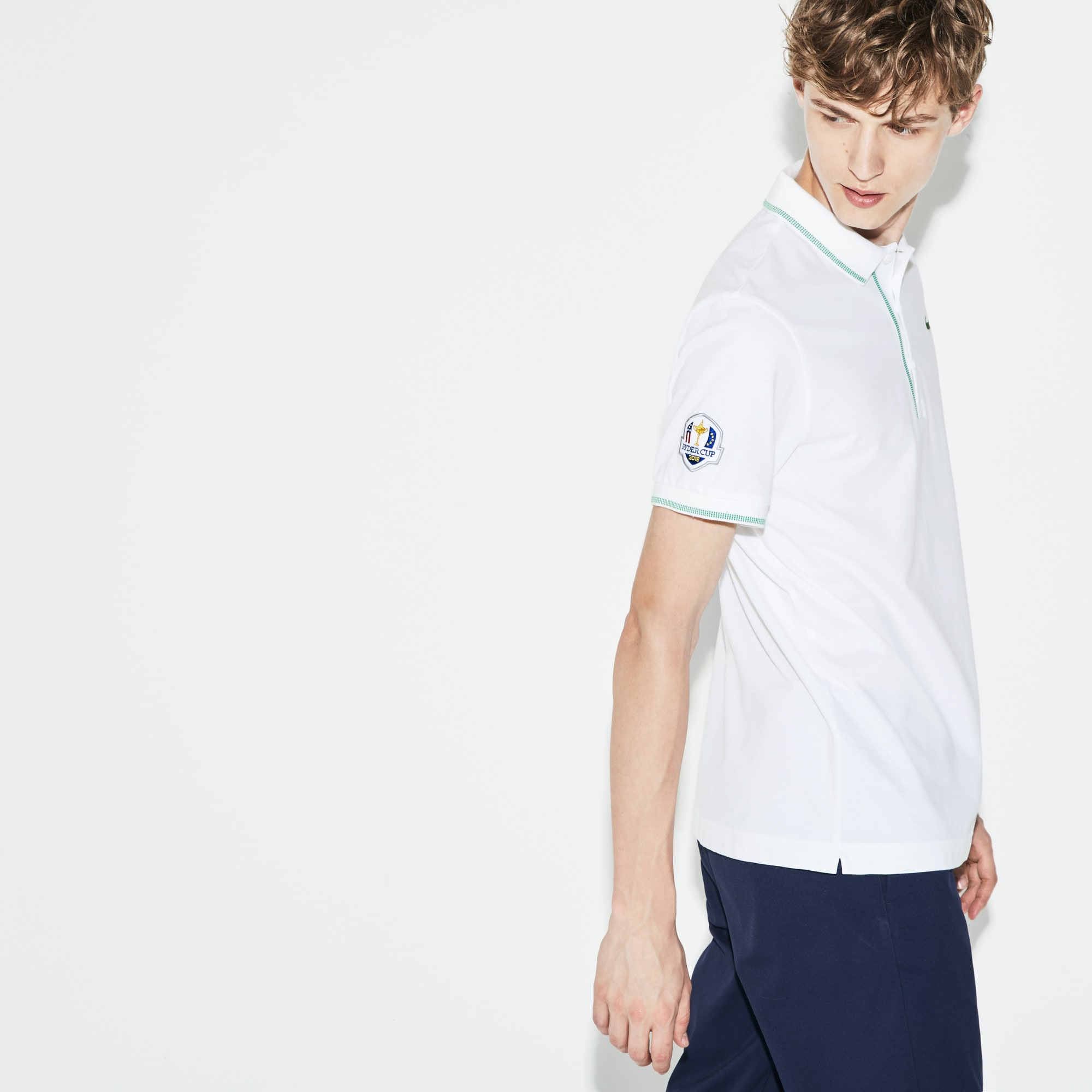 Lacoste - Herren LACOSTE SPORT Ryder Cup Edition Golf Poloshirt mit Paspeln - 2