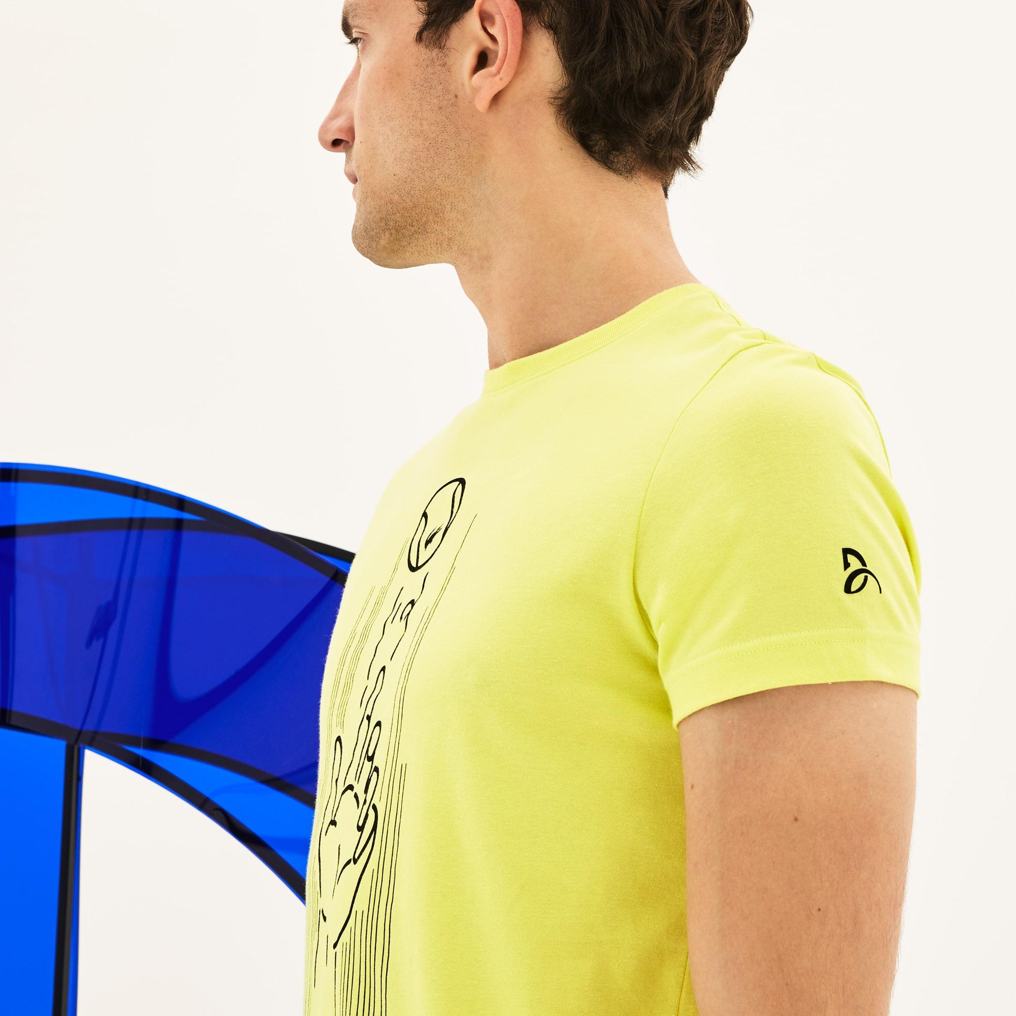 Lacoste - Herren Rundhals-T-Shirt aus Jersey mit Aufdruck LACOSTE SPORT - 7