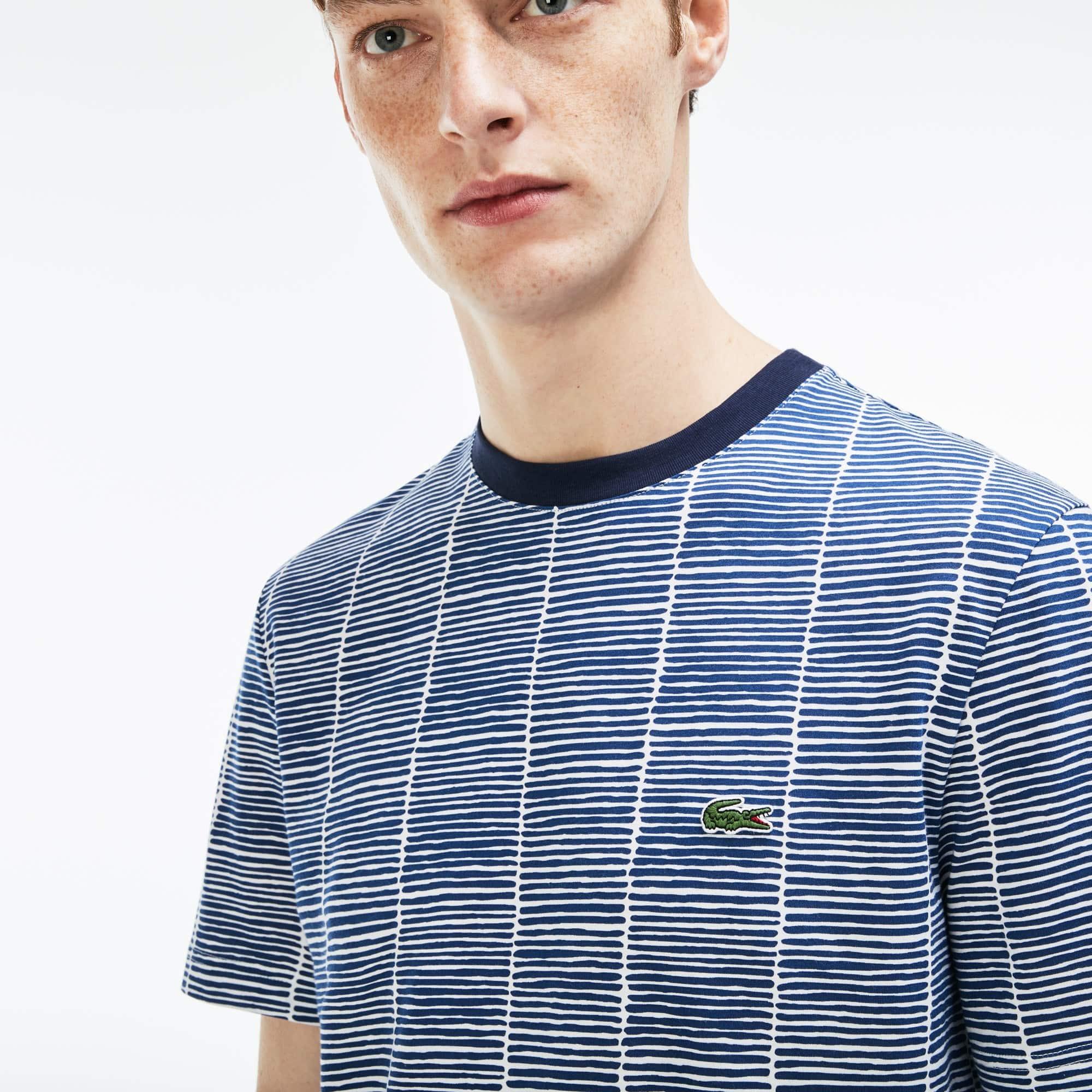 Herren Print Rundhals T-Shirt aus Baumwolljersey