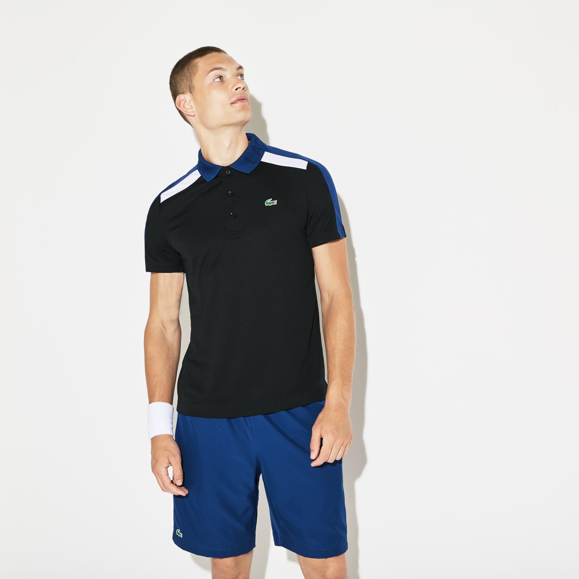 Lacoste - Herren LACOSTE SPORT Tennis-Poloshirt mit Kontraststreifen - 1