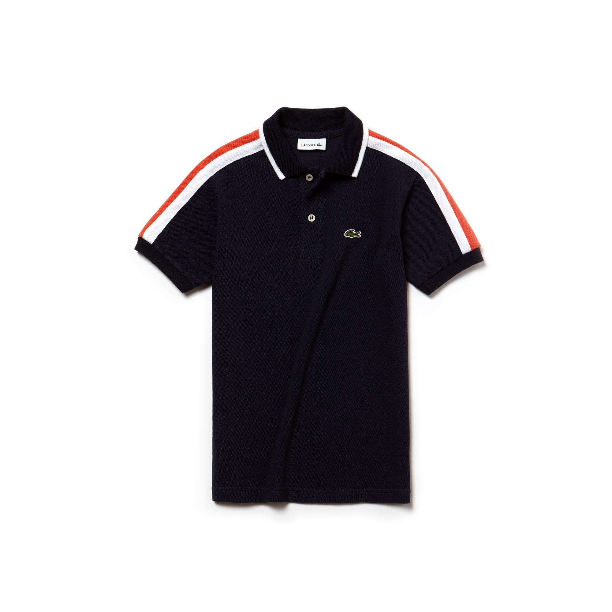 LACOSTE Jungen-Poloshirt aus Petit Piqué im Colorblock-Design