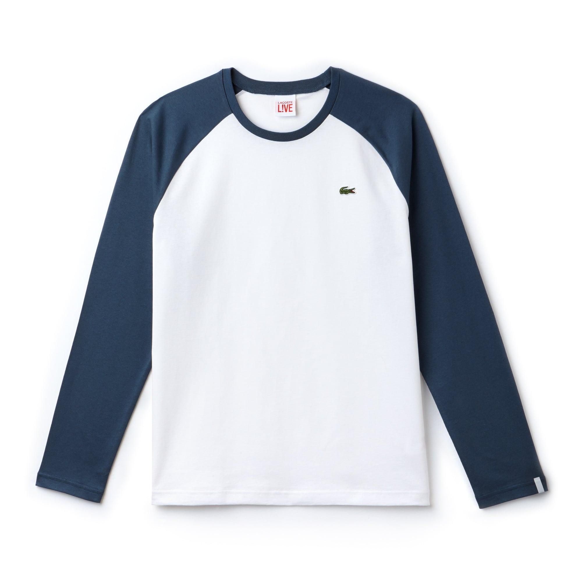 Herren-T-Shirt aus zweifarbigem Jersey LACOSTE L!VE