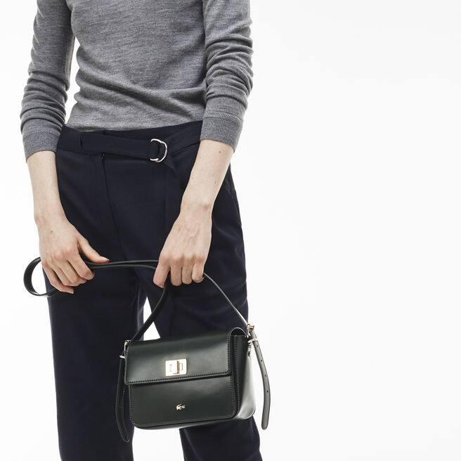 Damen-Umhängetasche MINI GOLF aus glänzendem Leder