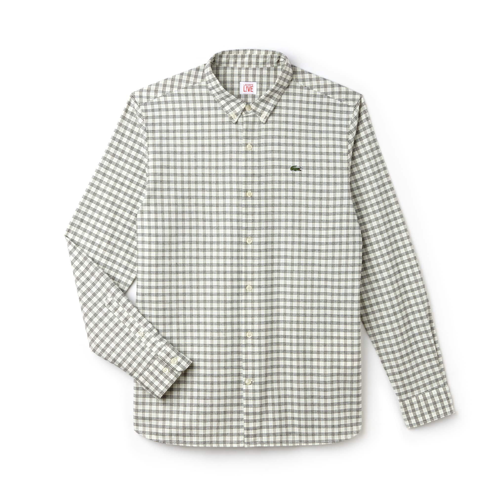 Herren-Hemd aus karierter Oxford-Baumwolle LACOSTE L!VE