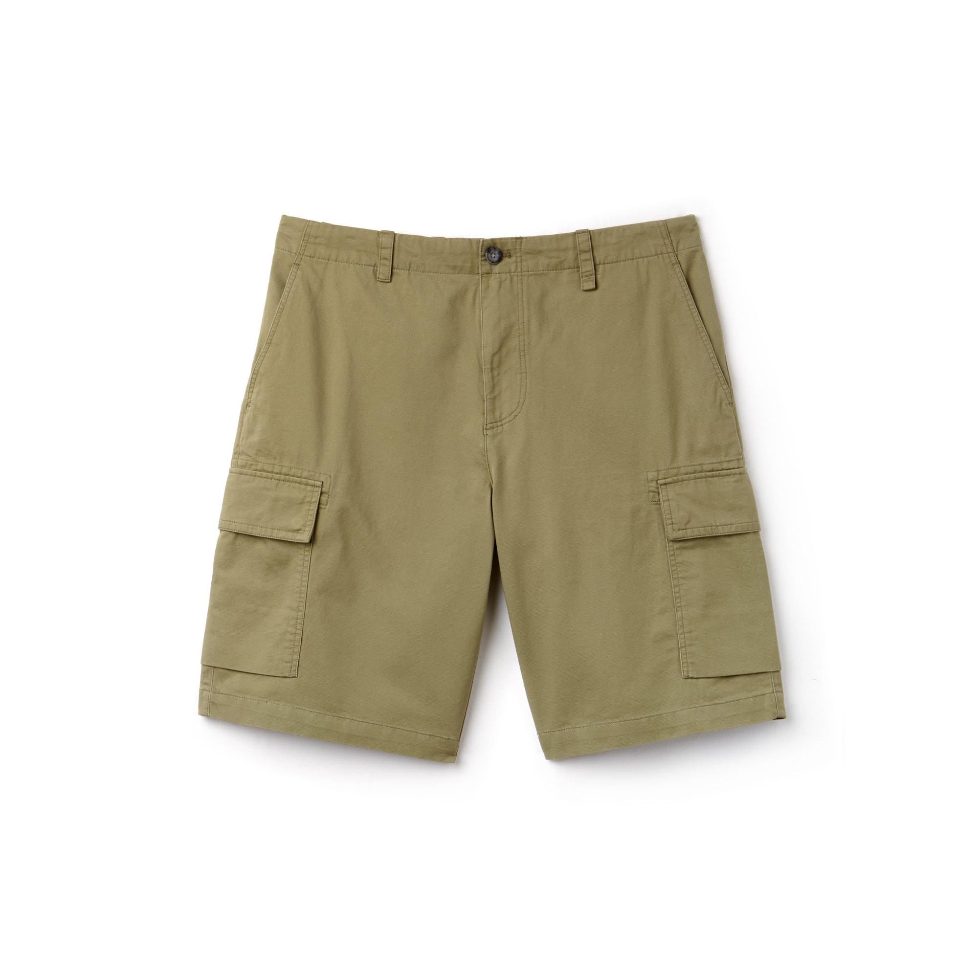 Herren-Cargo-Bermudas aus Baumwolltwill mit Taschen