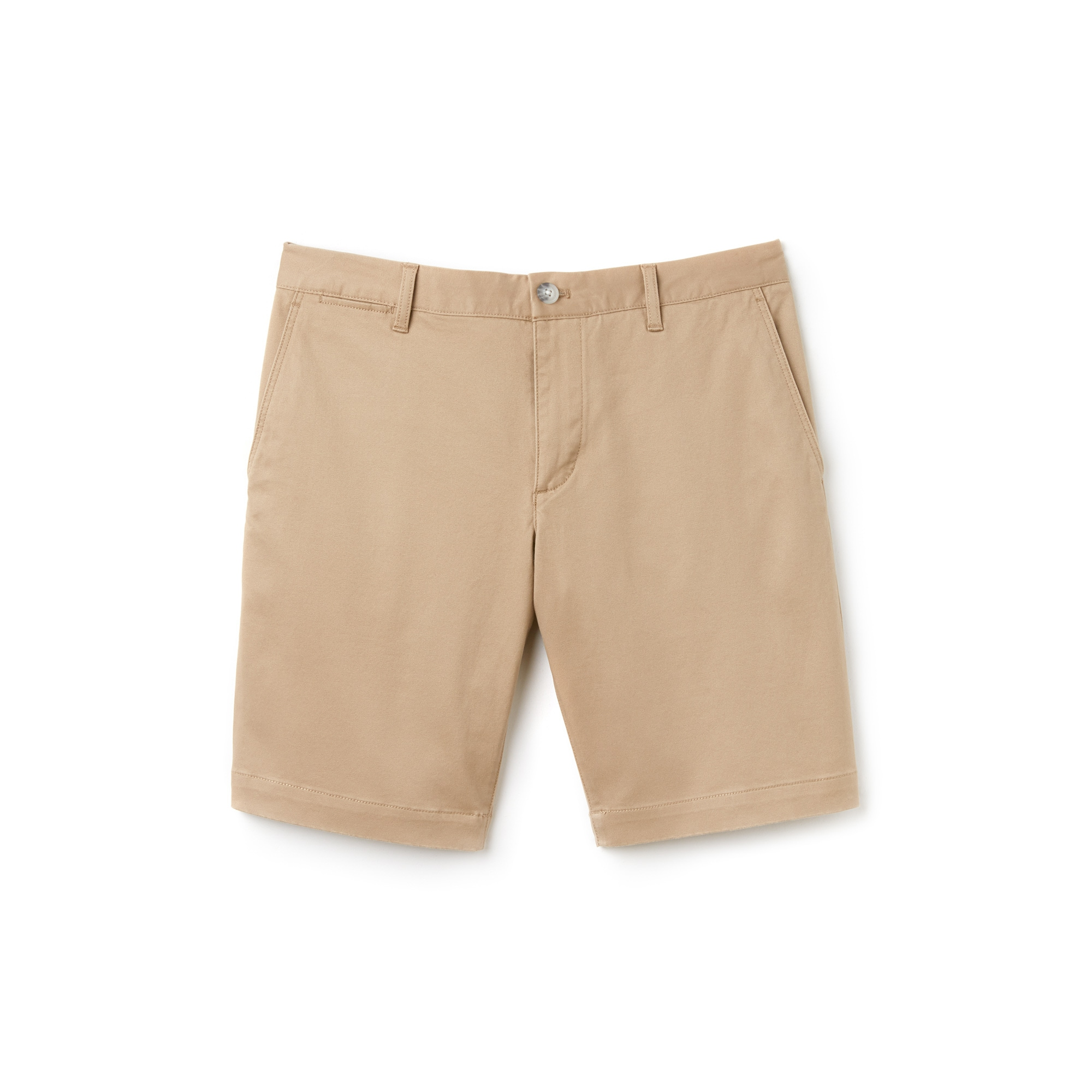 Slim Fit Herren-Bermudas aus Stretch-Gabardine