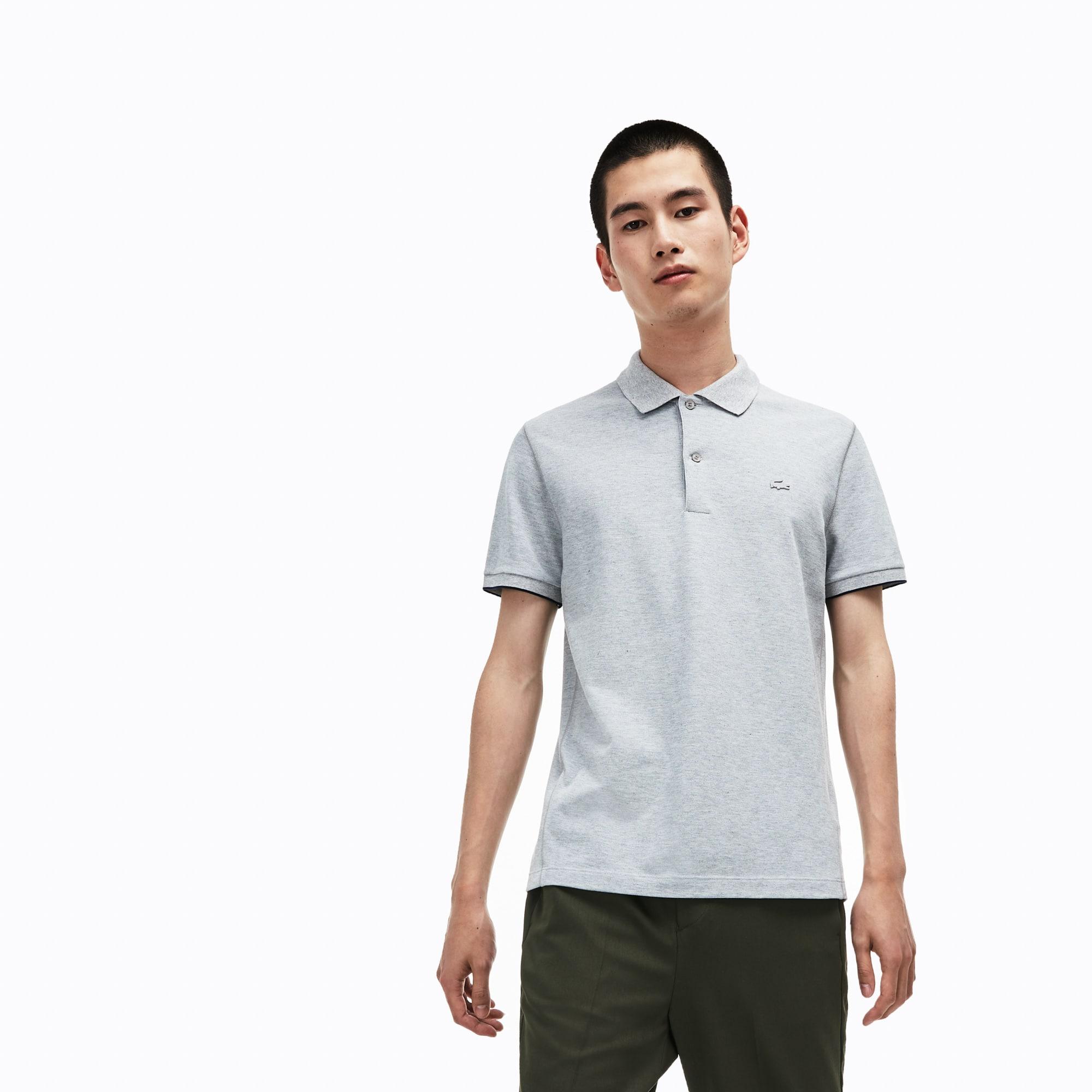Lacoste - LACOSTE Regular Fit Herren-Poloshirt aus funktionellem Petit-Piqué - 1