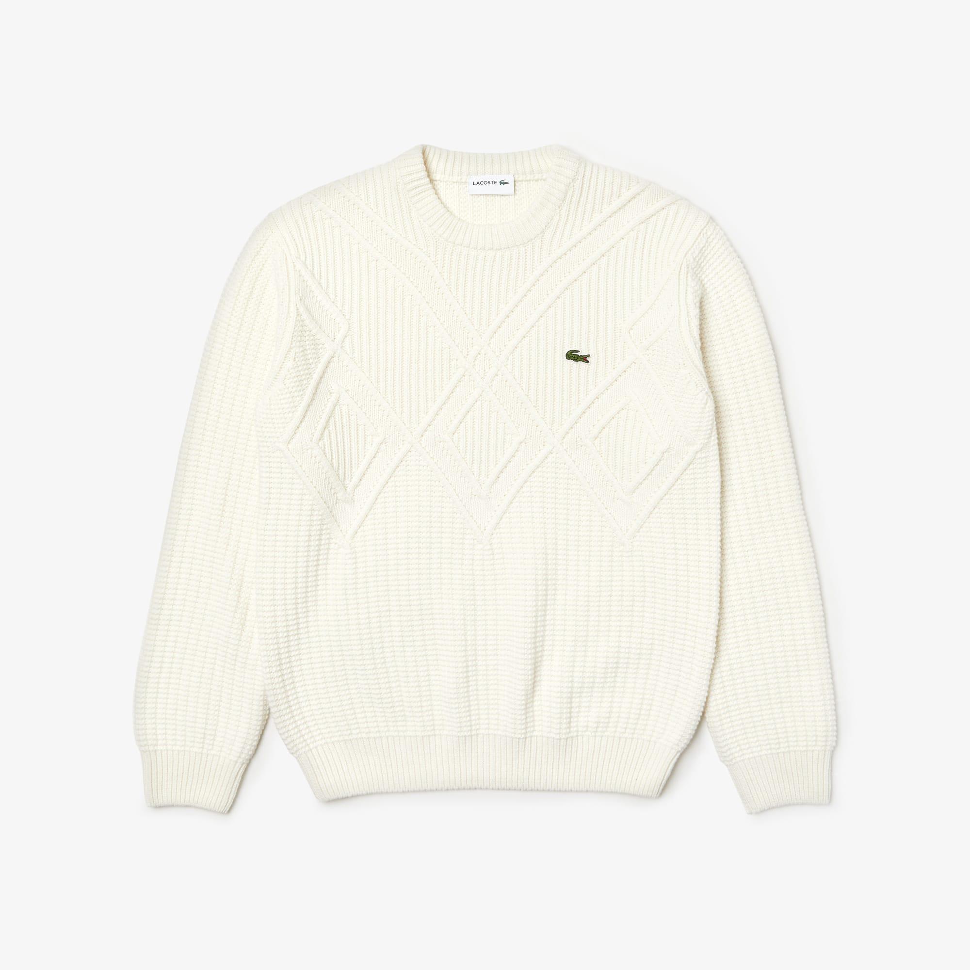 best service 9355e 4a9dc Herren-Pullover aus Wolle und Baumwolle mit Strick-Effekt