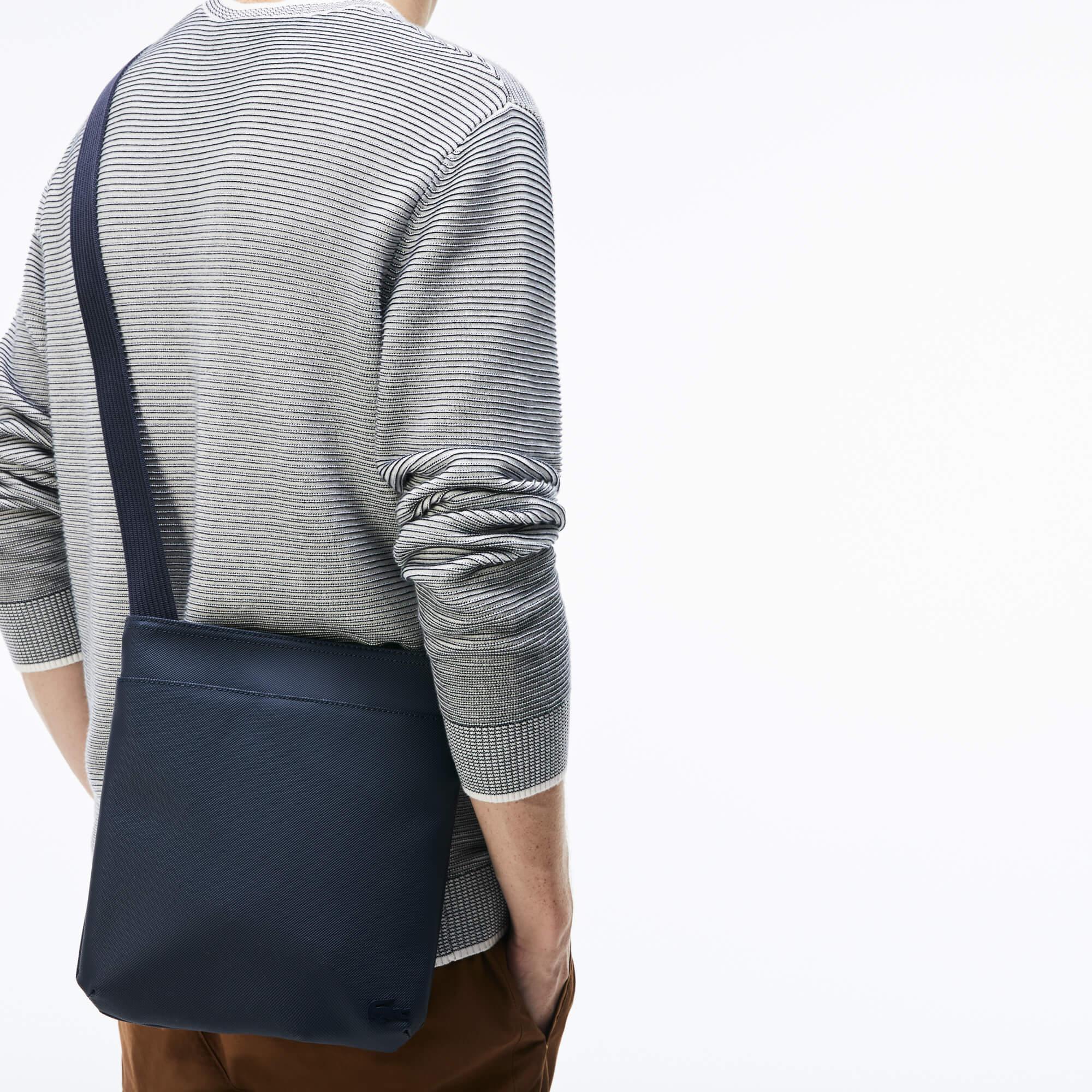 Flache Herren-Tasche CLASSIC aus Petit Piqué
