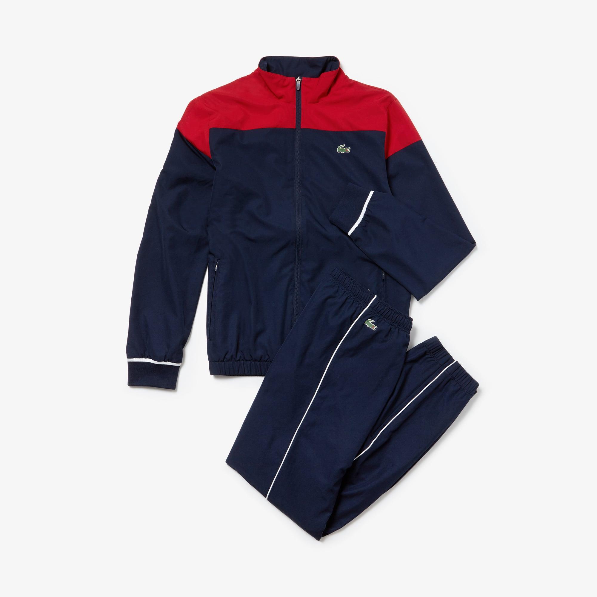+ 3 Farben. Neue Kollektion. Herren LACOSTE SPORT Tennis-Trainingsanzug mit  Colourblocks 5ff323506d