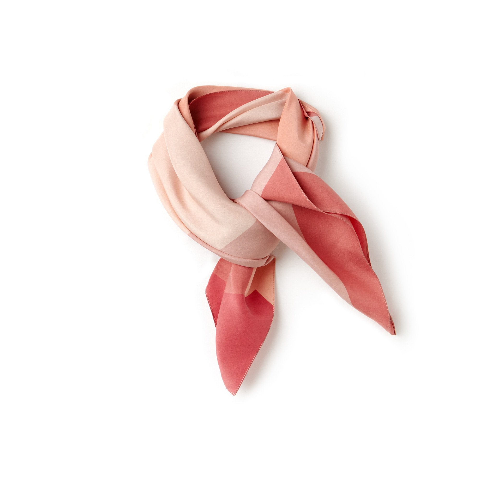 Damen-Bandana aus Seiden-Voile im Colorblock-Design