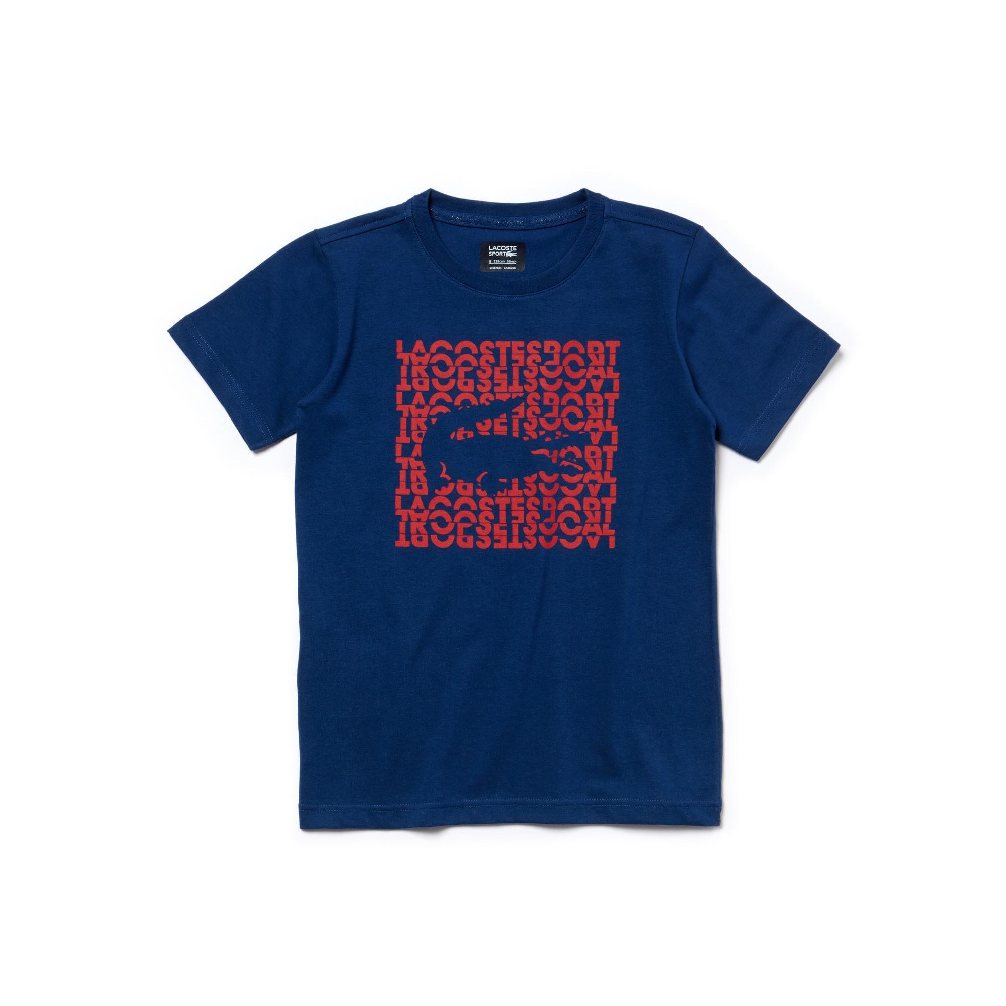 Jungen LACOSTE SPORT Tennis T-Shirt mit Schriftzug