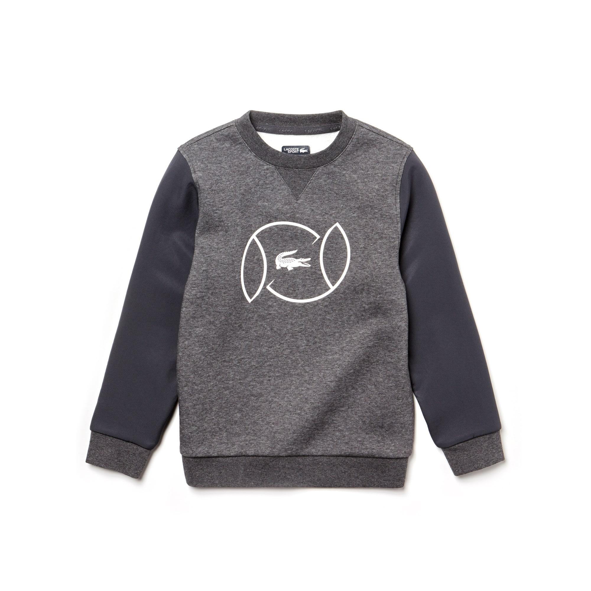Jungen LACOSTE SPORT Fleece Tennis-Sweatshirt mit Schriftzug