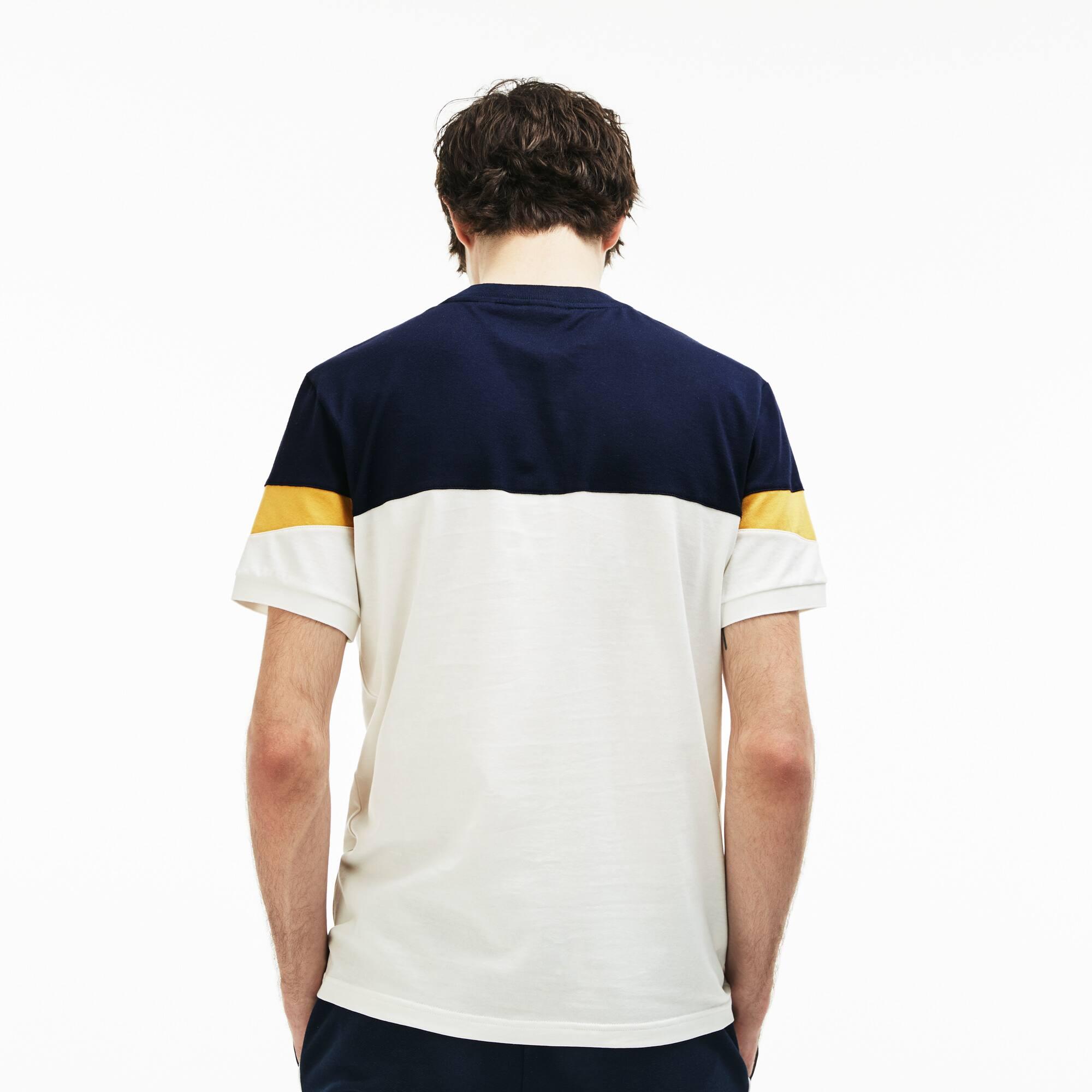 Lacoste - Herren Rundhals-Shirt aus Jersey im Colorblock-Design - 3
