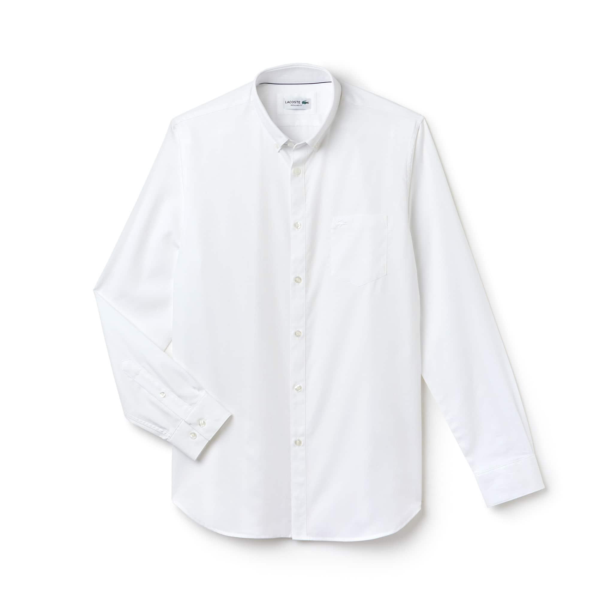 Lacoste - Regular Fit Herren-Hemd aus strukturierter Popeline - 4