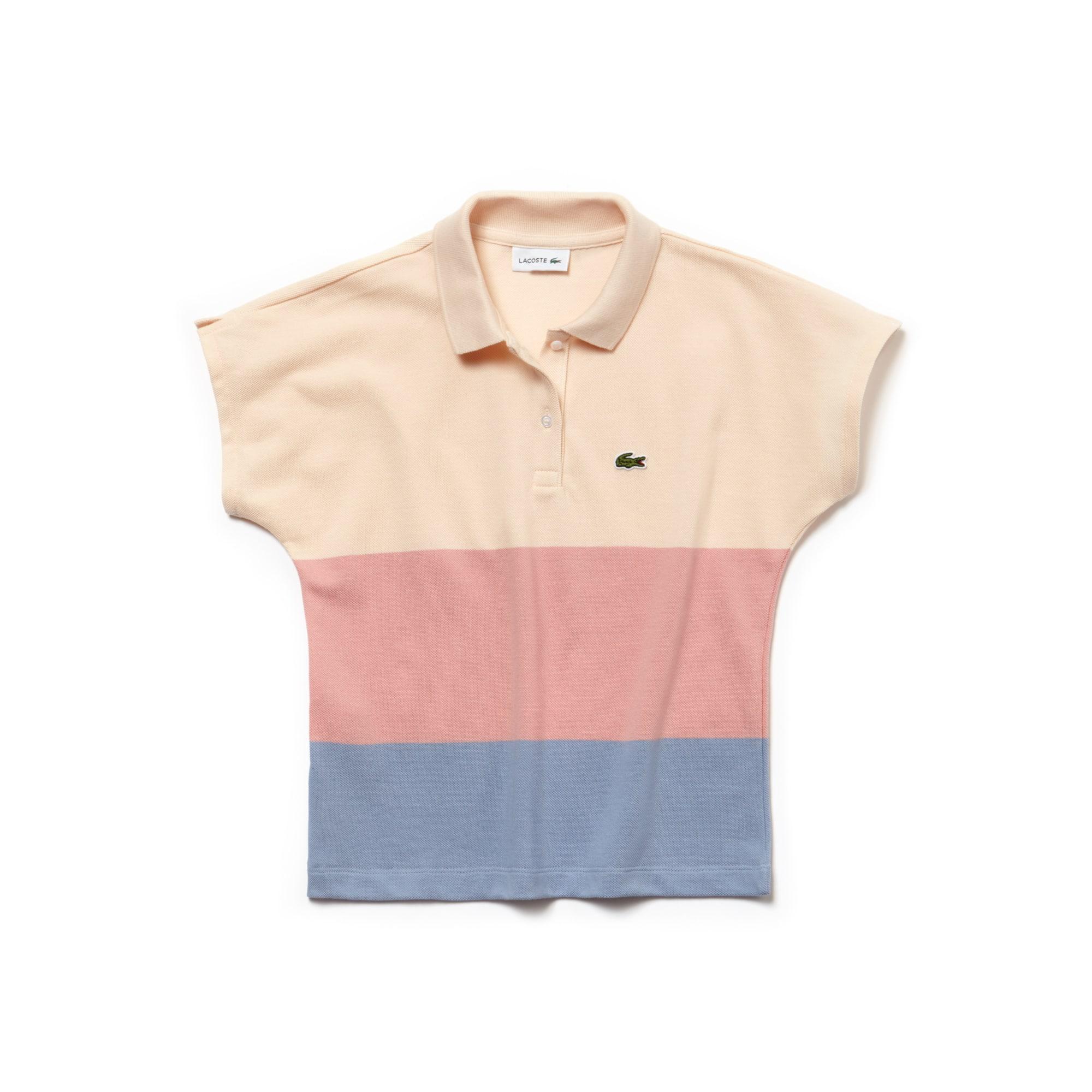 Mädchen LACOSTE Petit-Piqué Poloshirt mit Colorblocks