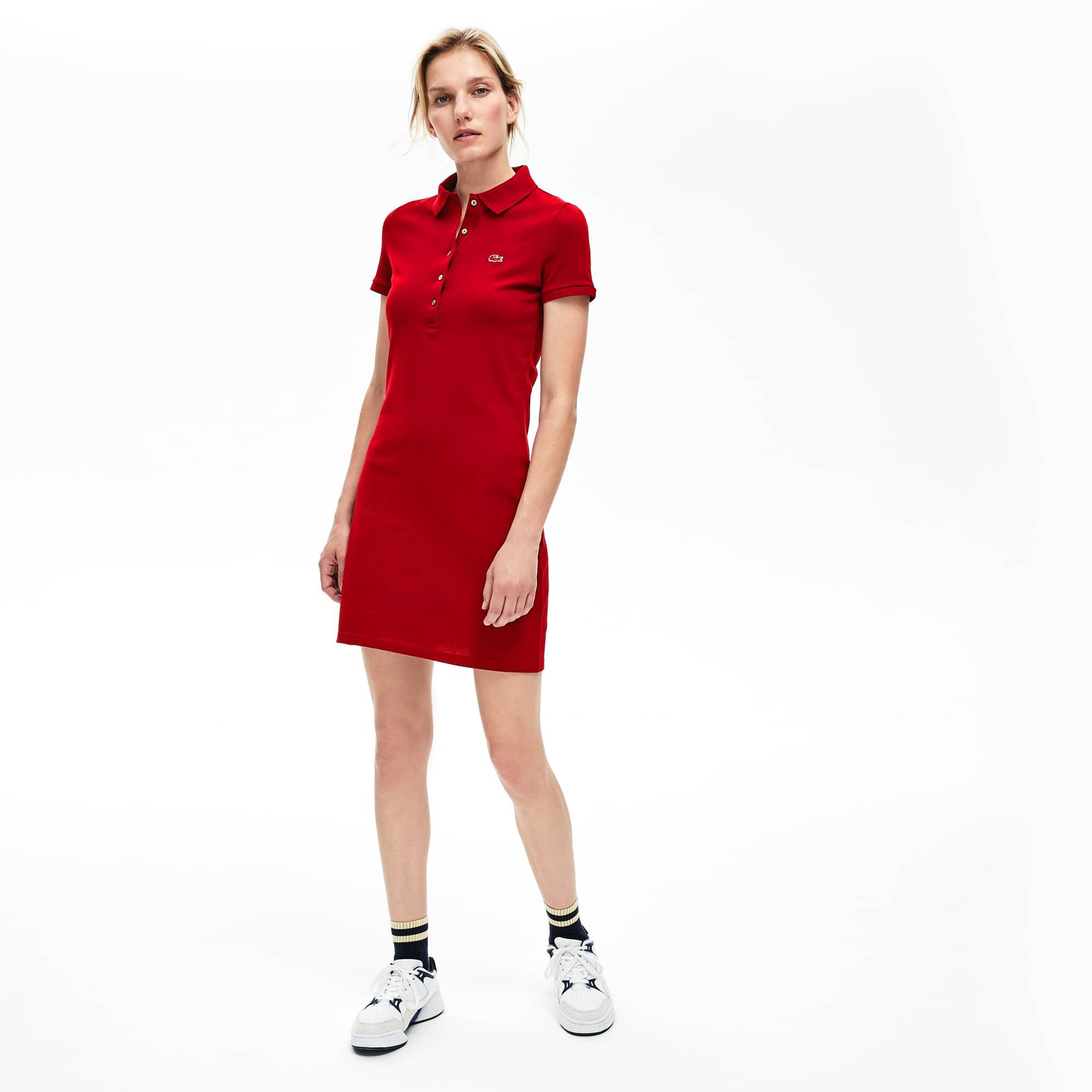 Damen-Polokleid aus Baumwoll-Mini-Piqué mit Stretch e5fac05981