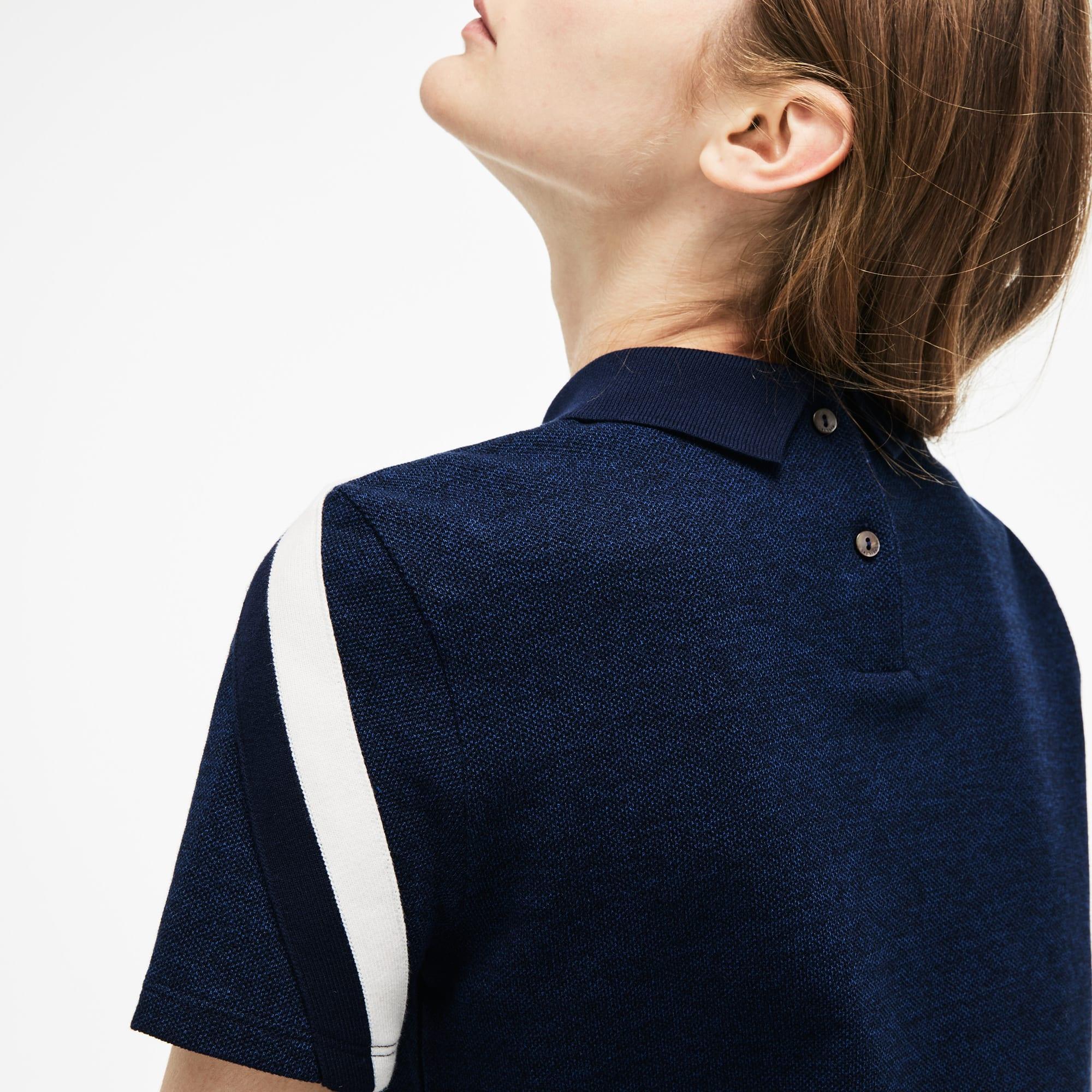 Damen LACOSTE MOTION Poloshirt aus dreifarbigem Kaviar-Piqué