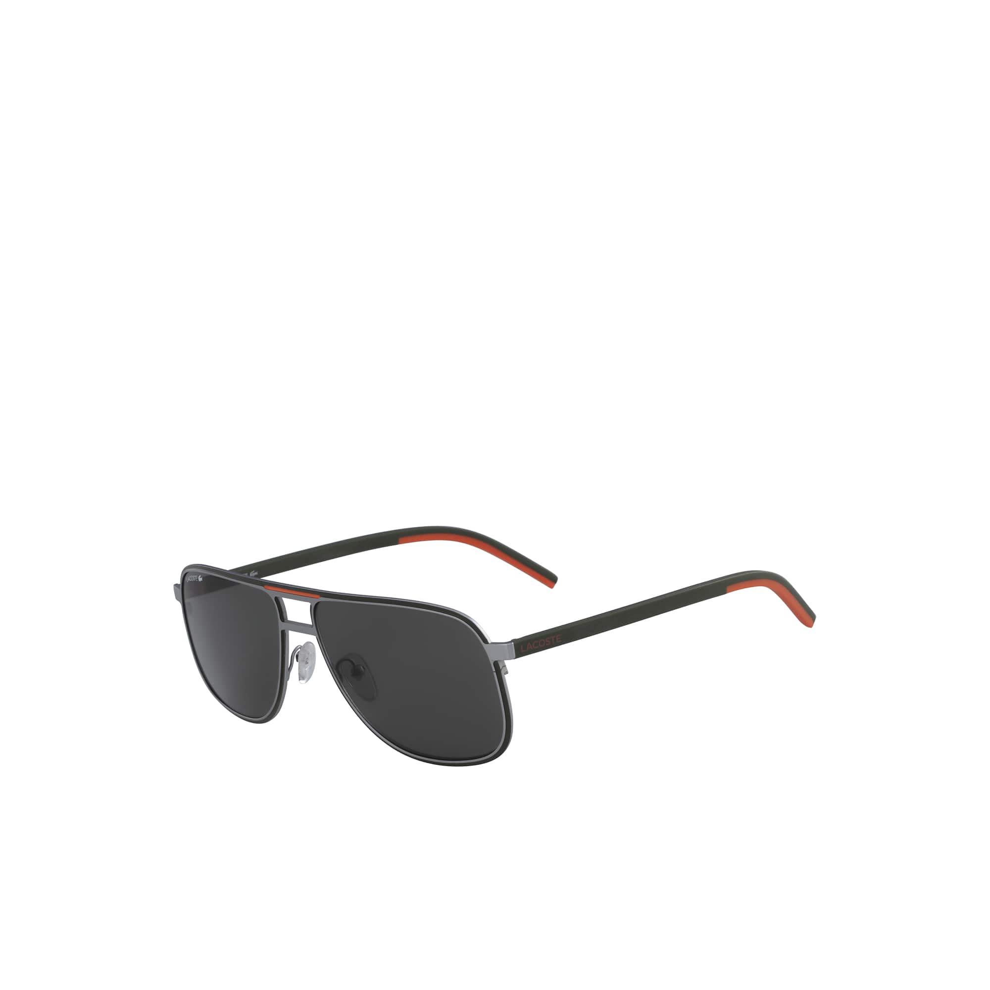 Herren-Sonnenbrille mit Streifen und Paspel