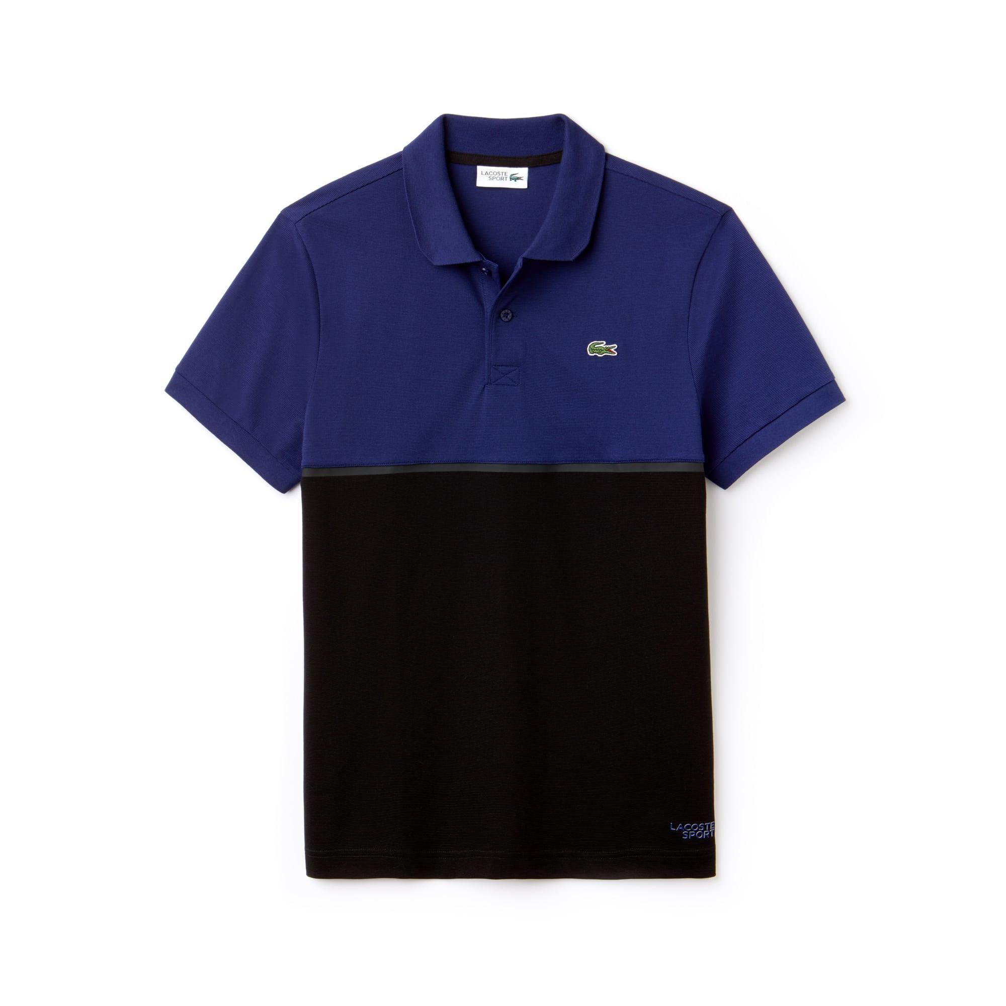 Herren LACOSTE SPORT Tennis Poloshirt aus ultraleichter Baumwolle mit Colorblocks