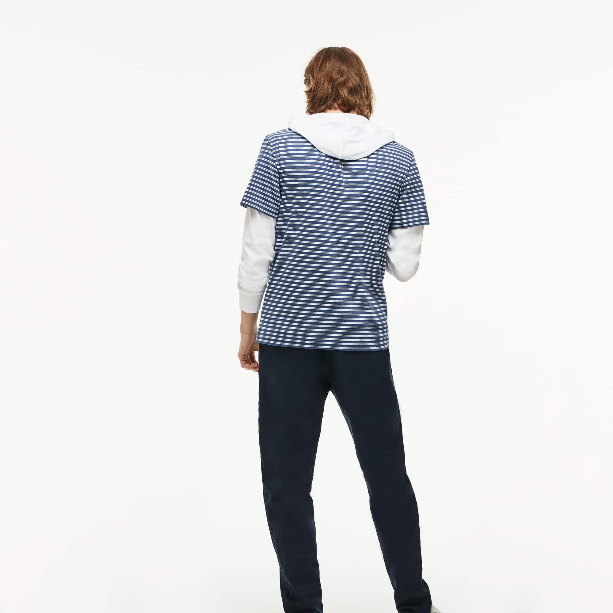 Lacoste - Herren Rundhals-Shirt aus gestreiftem Baumwolljersey - 2