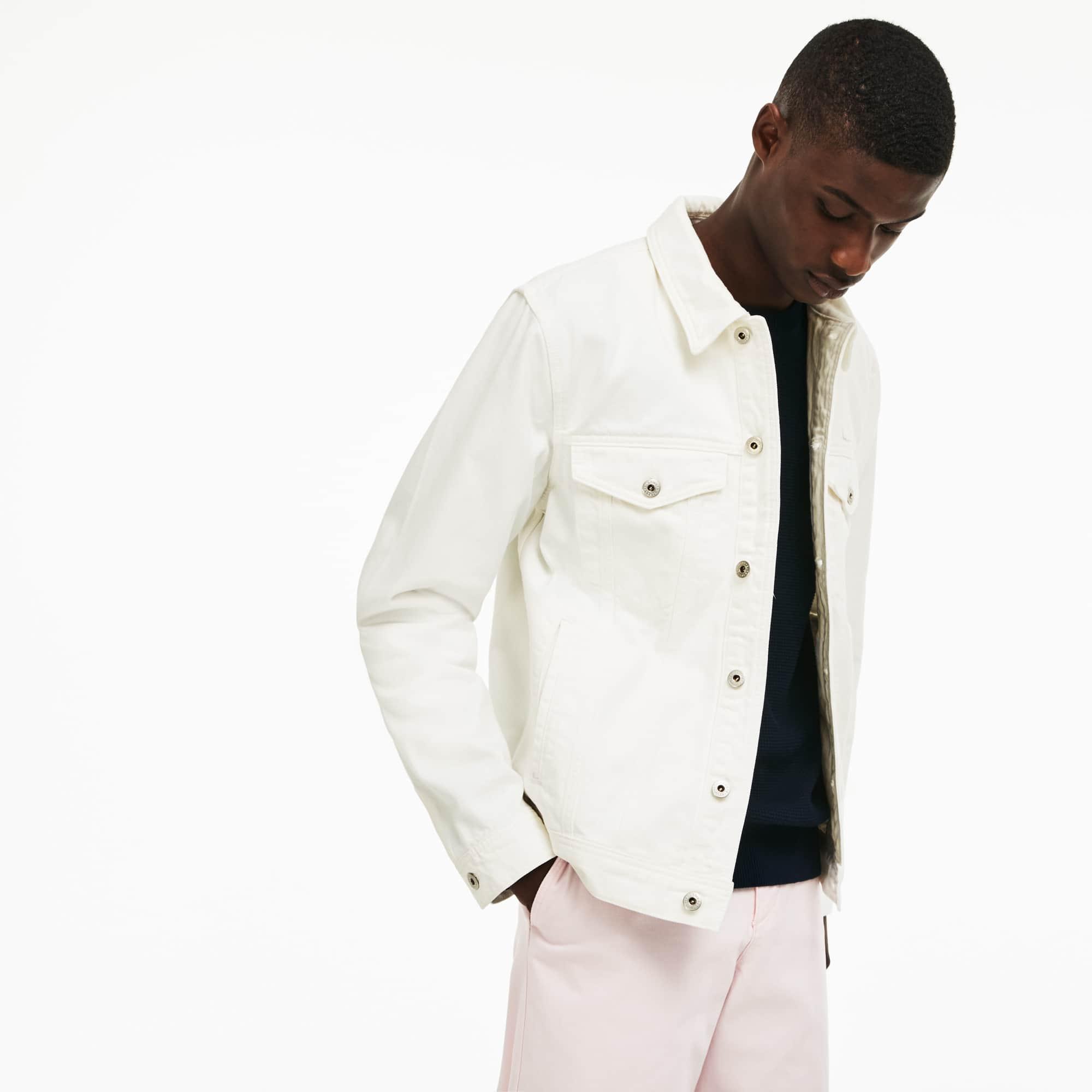 Herren-Jacke aus leichtem Baumwoll-Twill