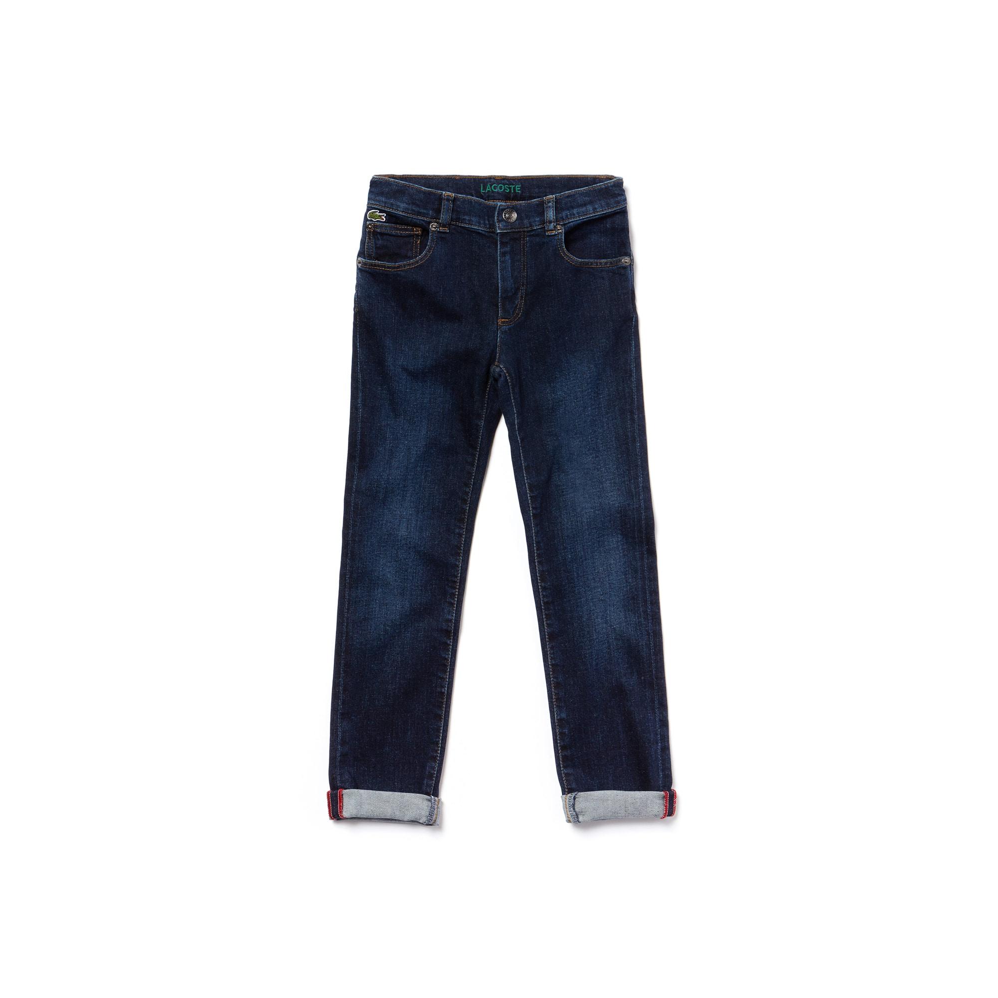 Baumwolldenim-Jeans im Chino-Schnitt