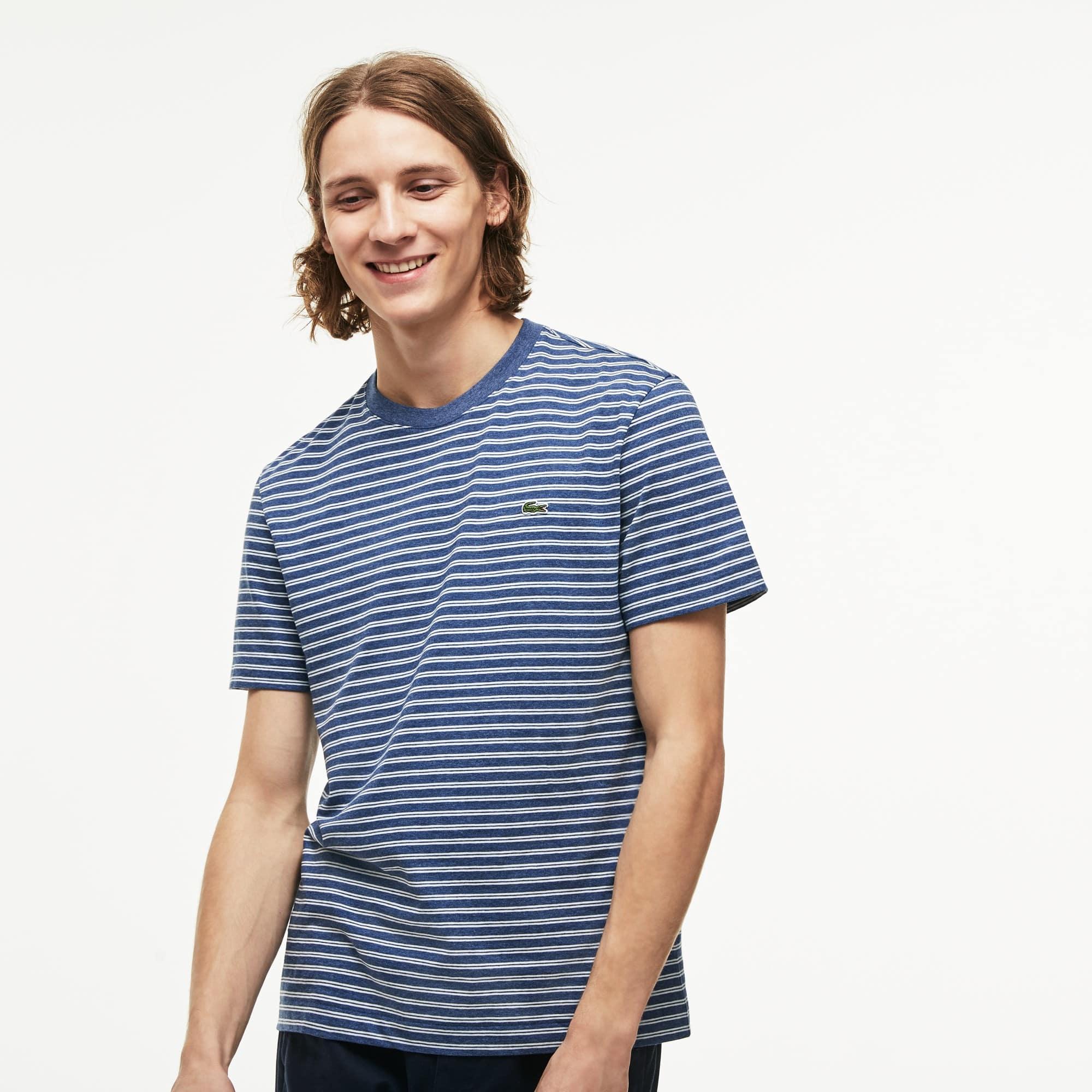 Lacoste - Herren Rundhals-Shirt aus gestreiftem Baumwolljersey - 6