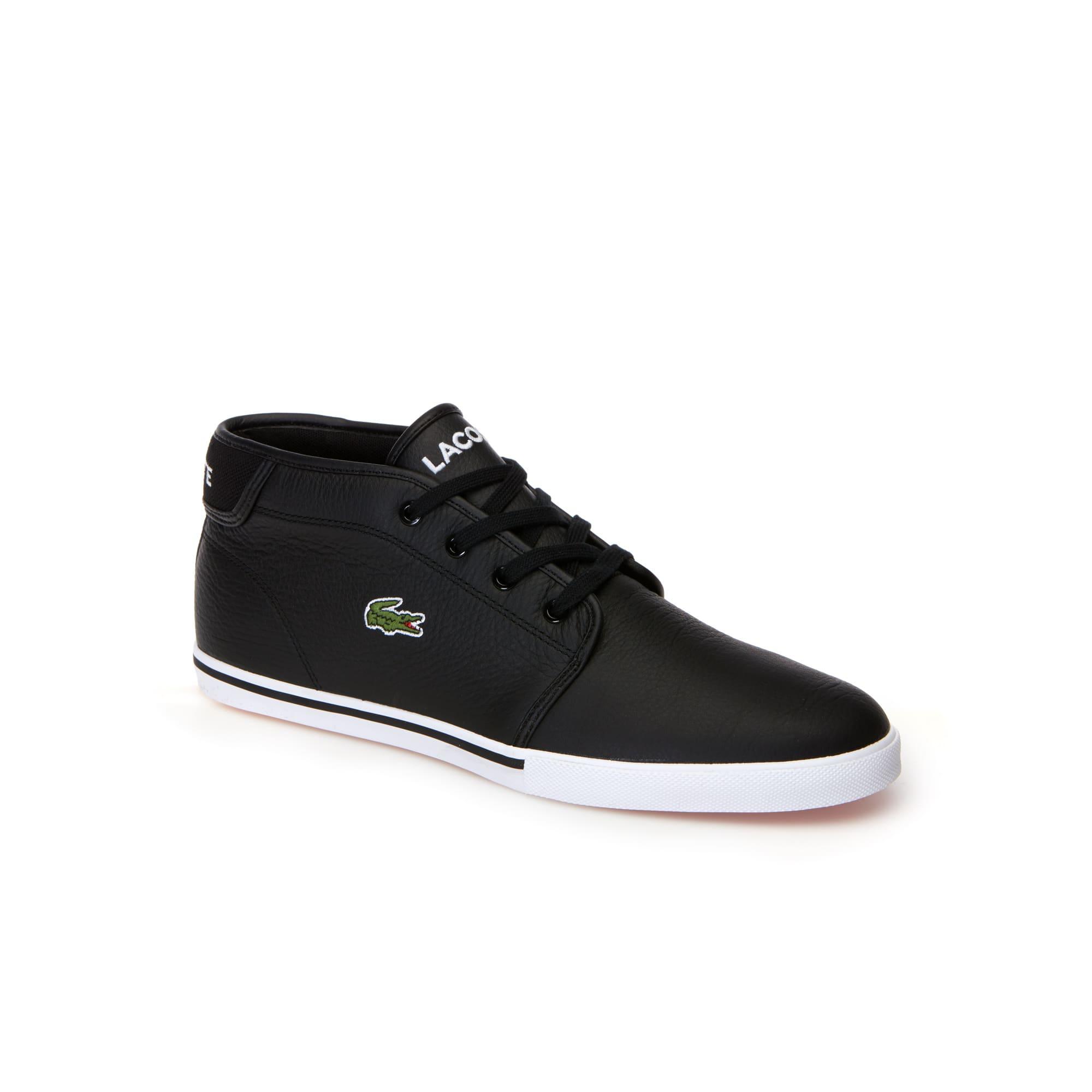 Leder-Sneaker Ampthill mit Paspel