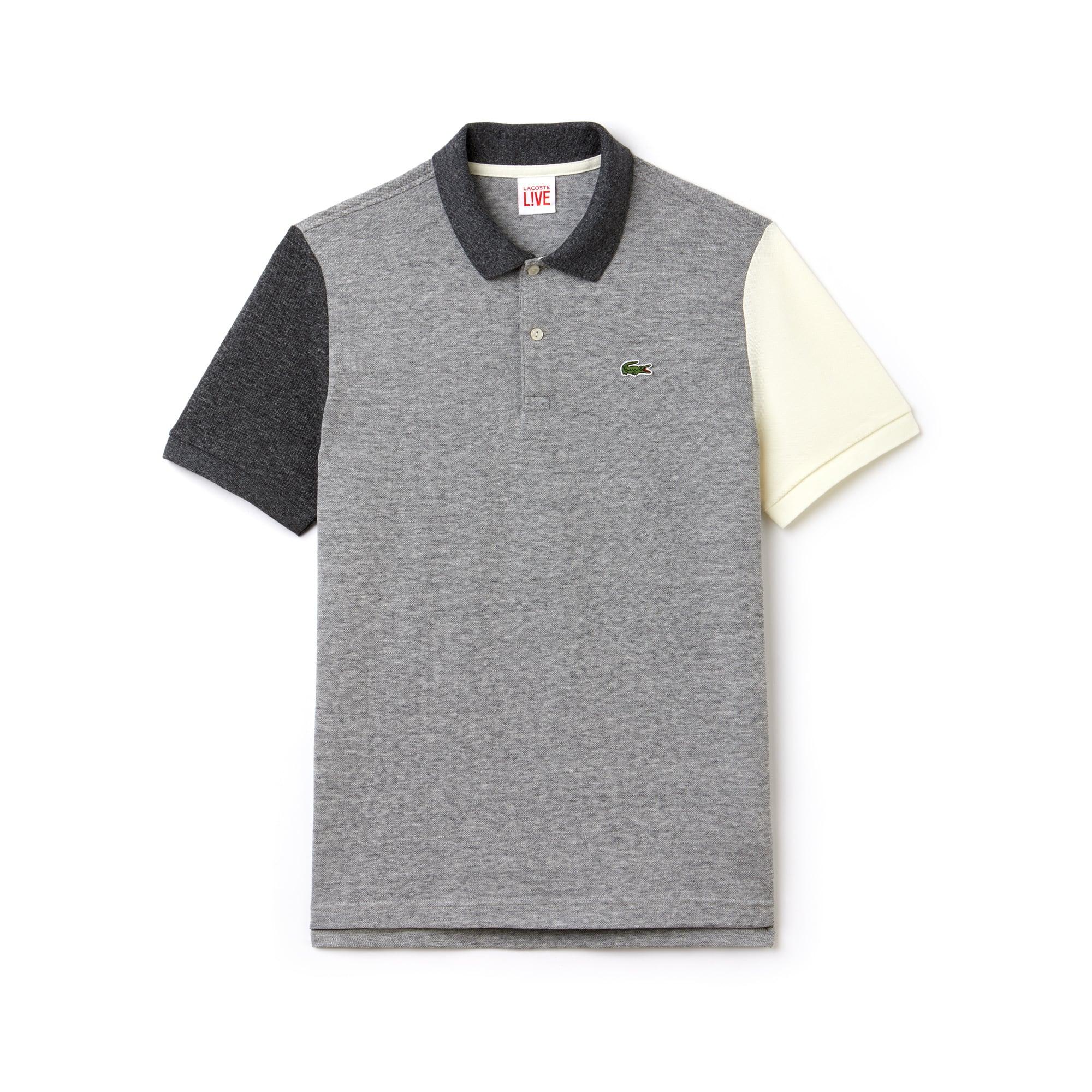 Herren LACOSTE L!VE Slim Fit Colorblock Petit Piqué Poloshirt