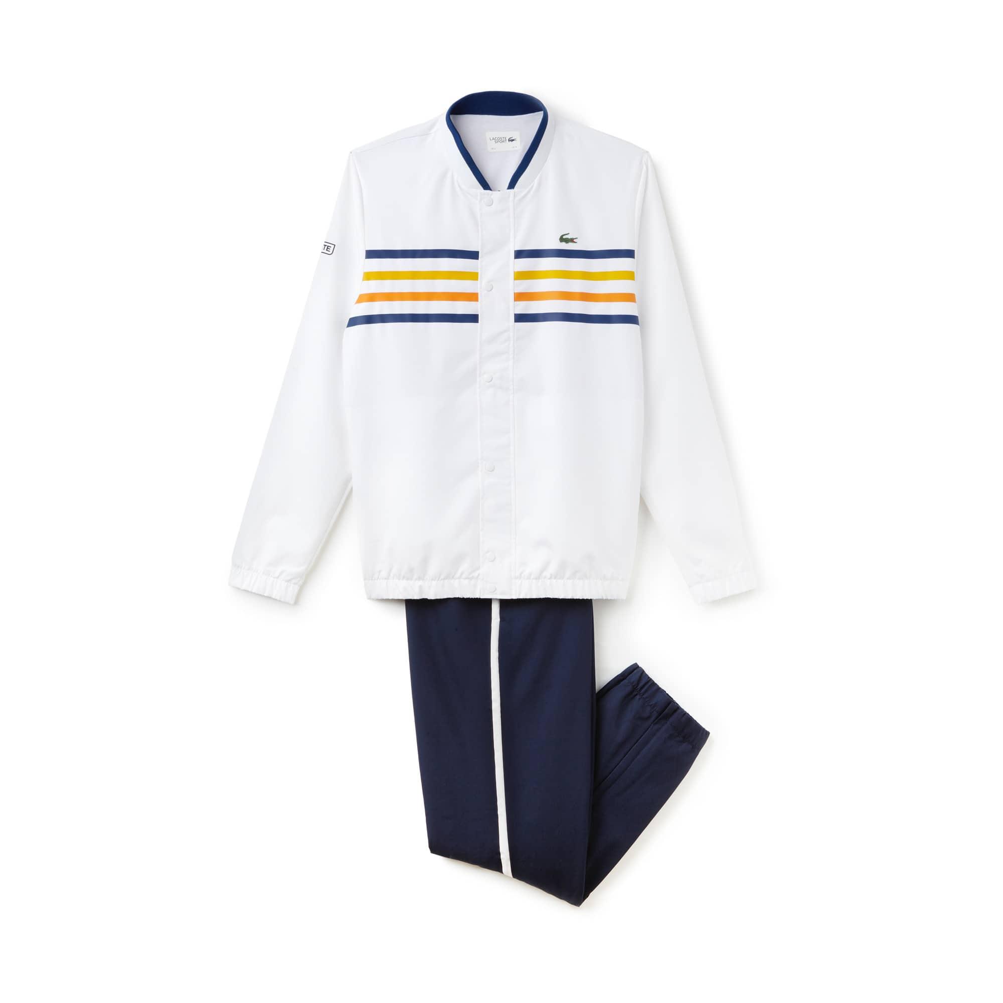 Herren Tennis-Trainingsanzug mit Farbstreifen LACOSTE SPORT