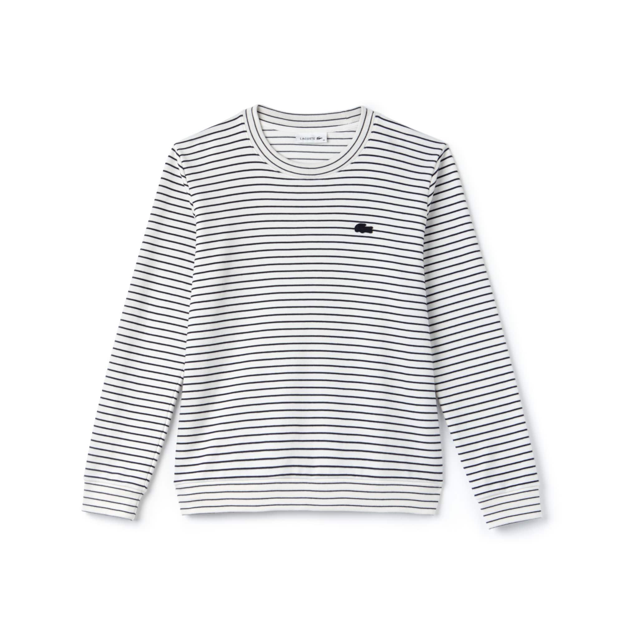 Damen-Sweatshirt mit Rundhals aus Baumwoll-Interlock mit Stretch