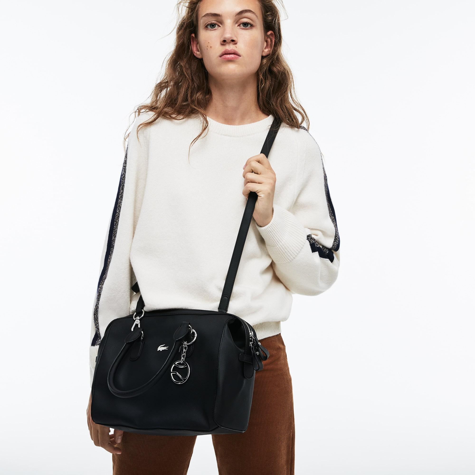 Damen-Boston Tasche DAILY CLASSIC aus beschichtetem Piqué-Canvas