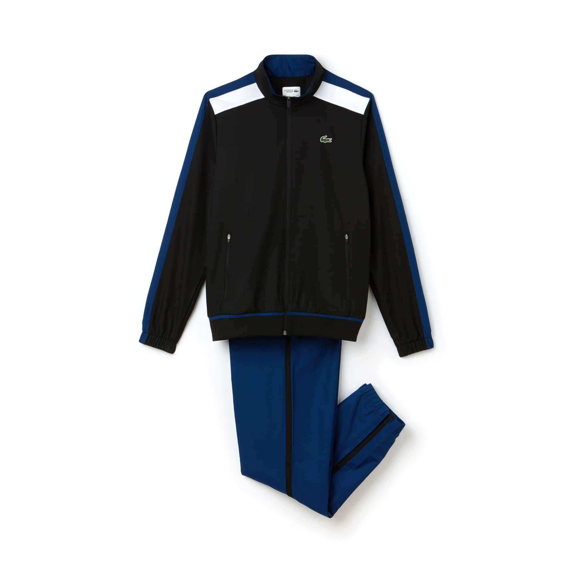 Herren LACOSTE SPORT Taft-Trainingsanzug mit farbigen Streifen