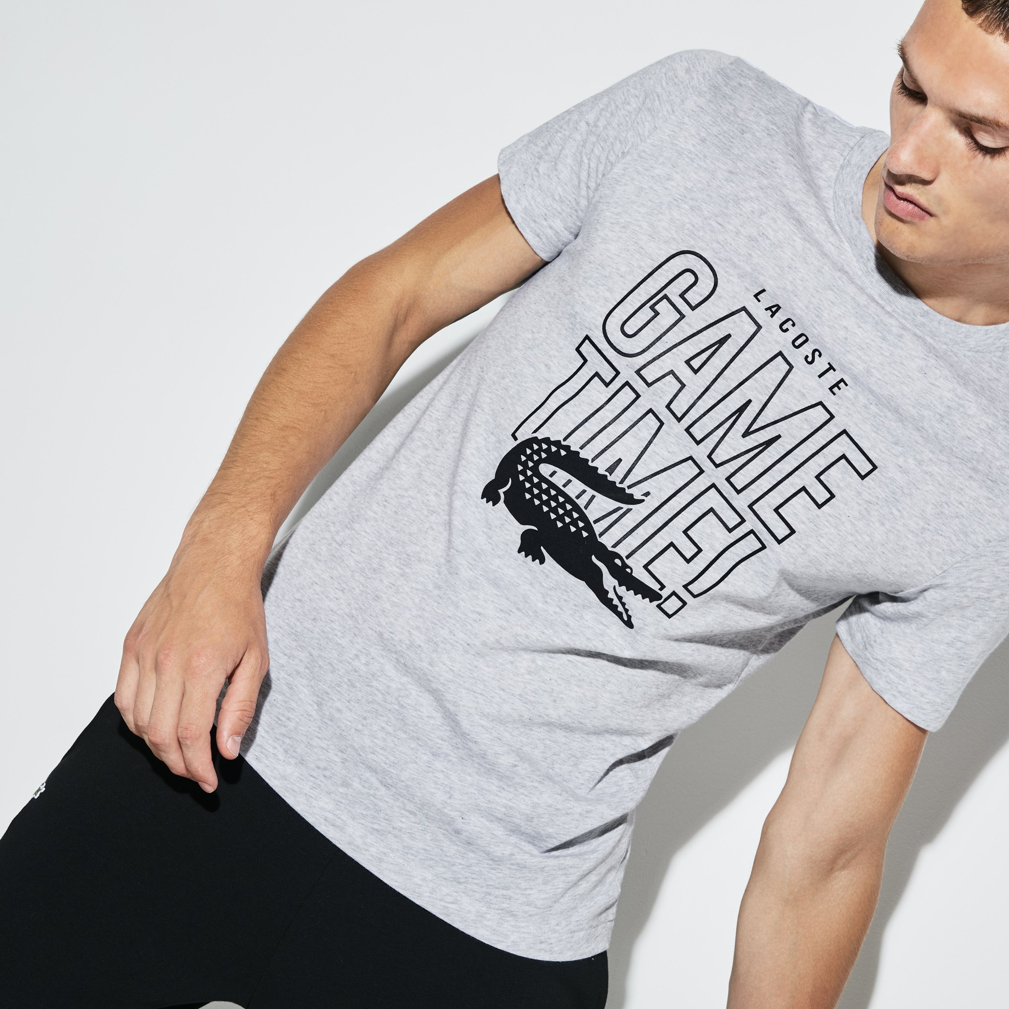 Lacoste - Herren LACOSTE SPORT Game Time Rundhals Tennis T-Shirt aus Jersey - 1